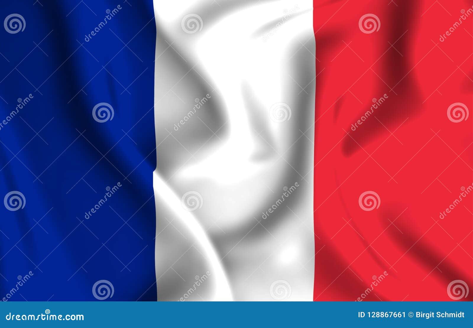 Ilustração da bandeira de França