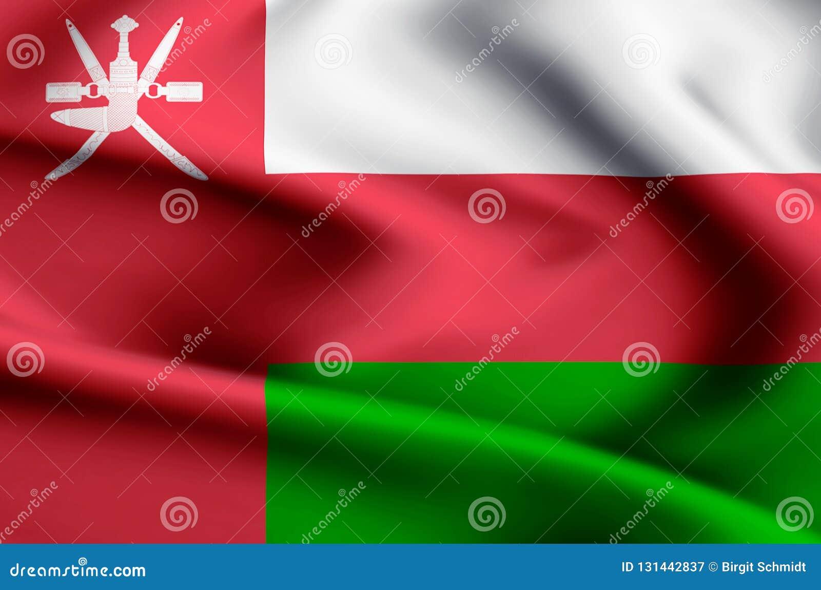 Ilustração da bandeira de Omã