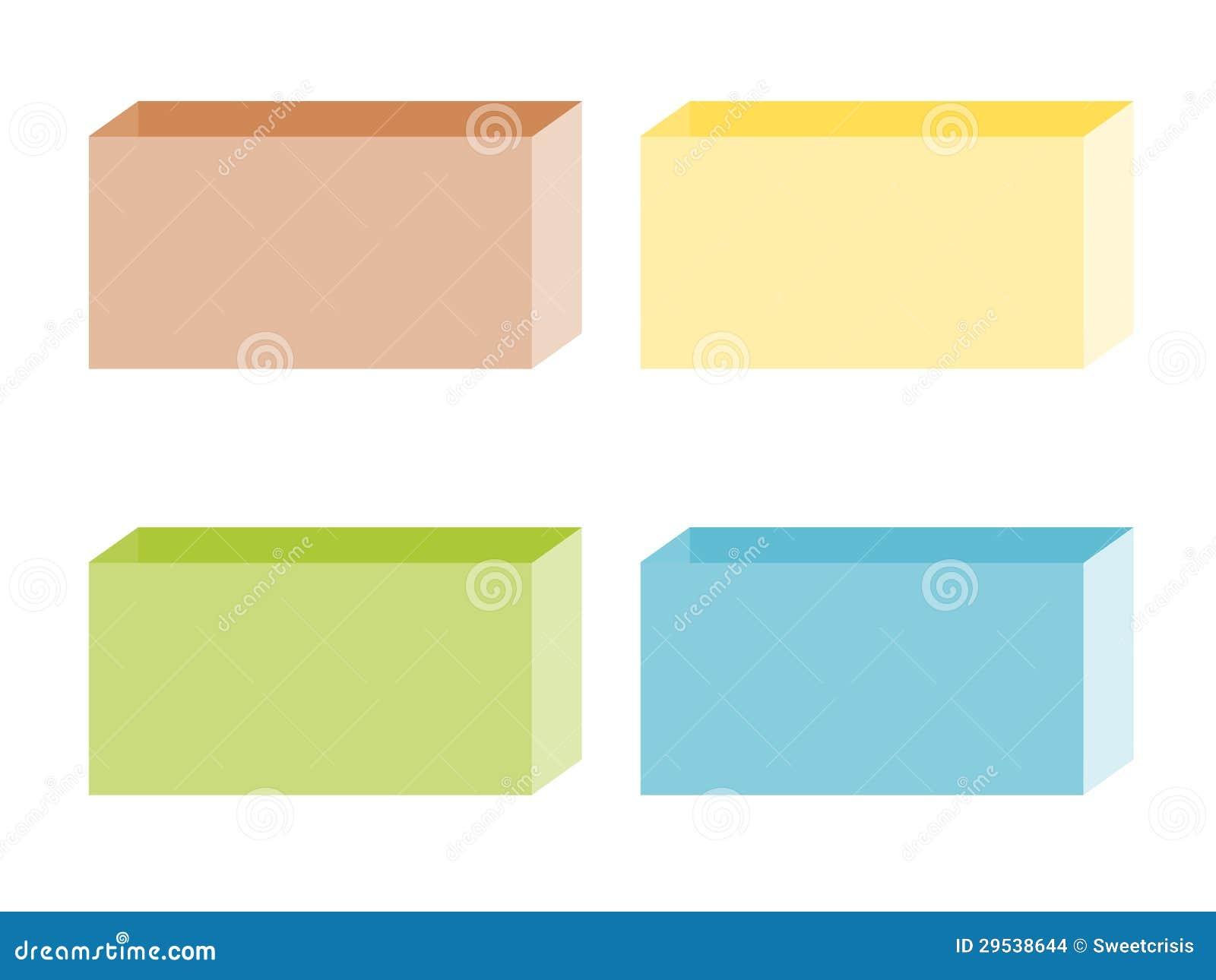 Ilustração da caixa de papel