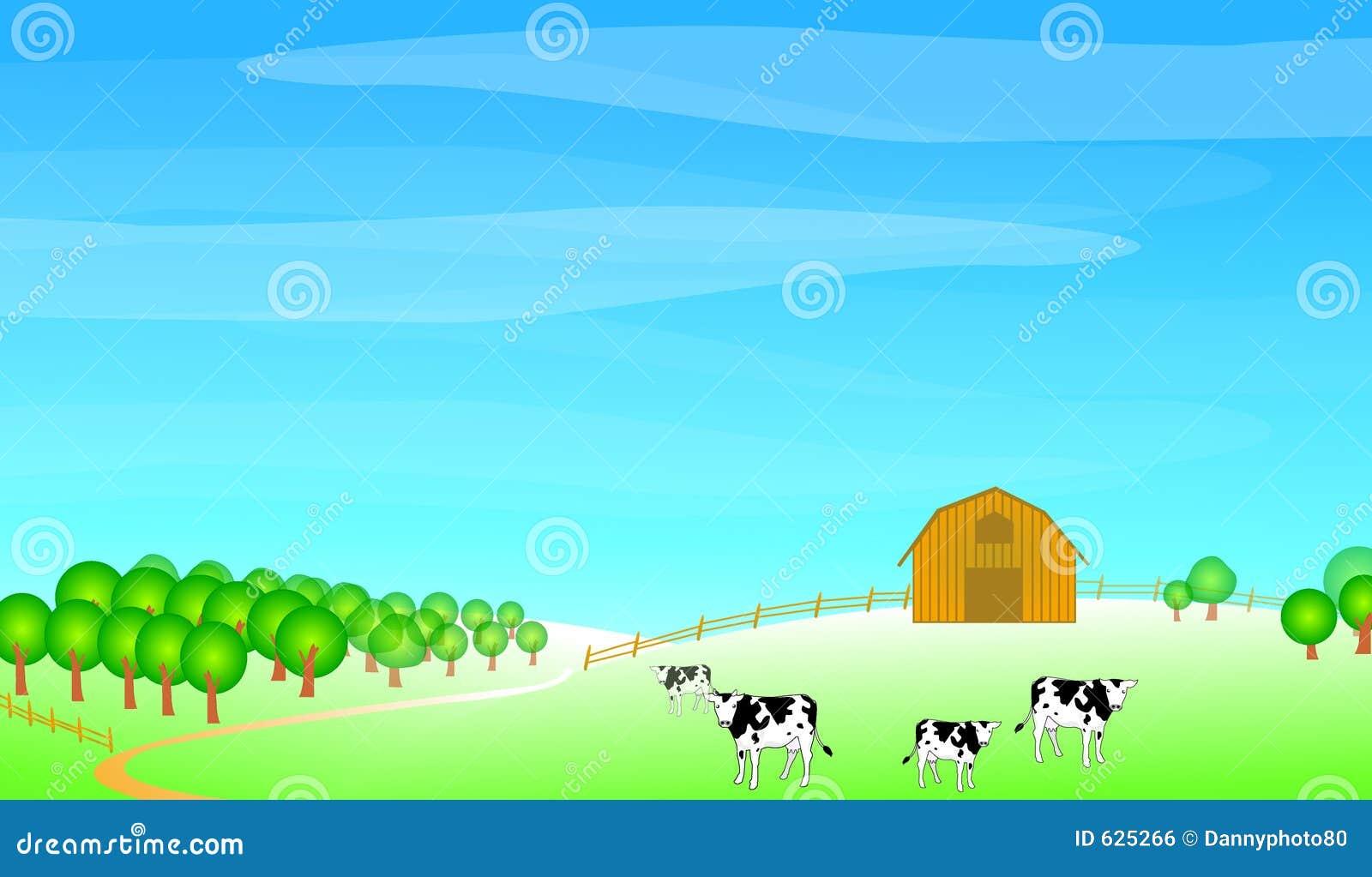 Ilustração da cena da exploração agrícola