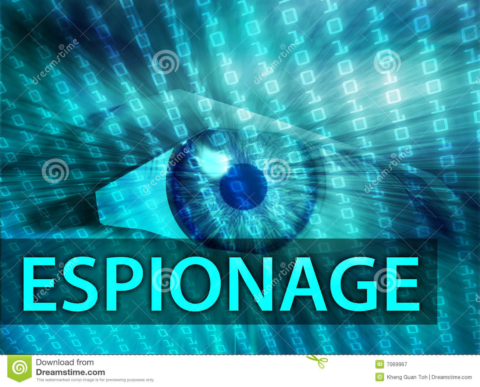 Ilustração da espionagem