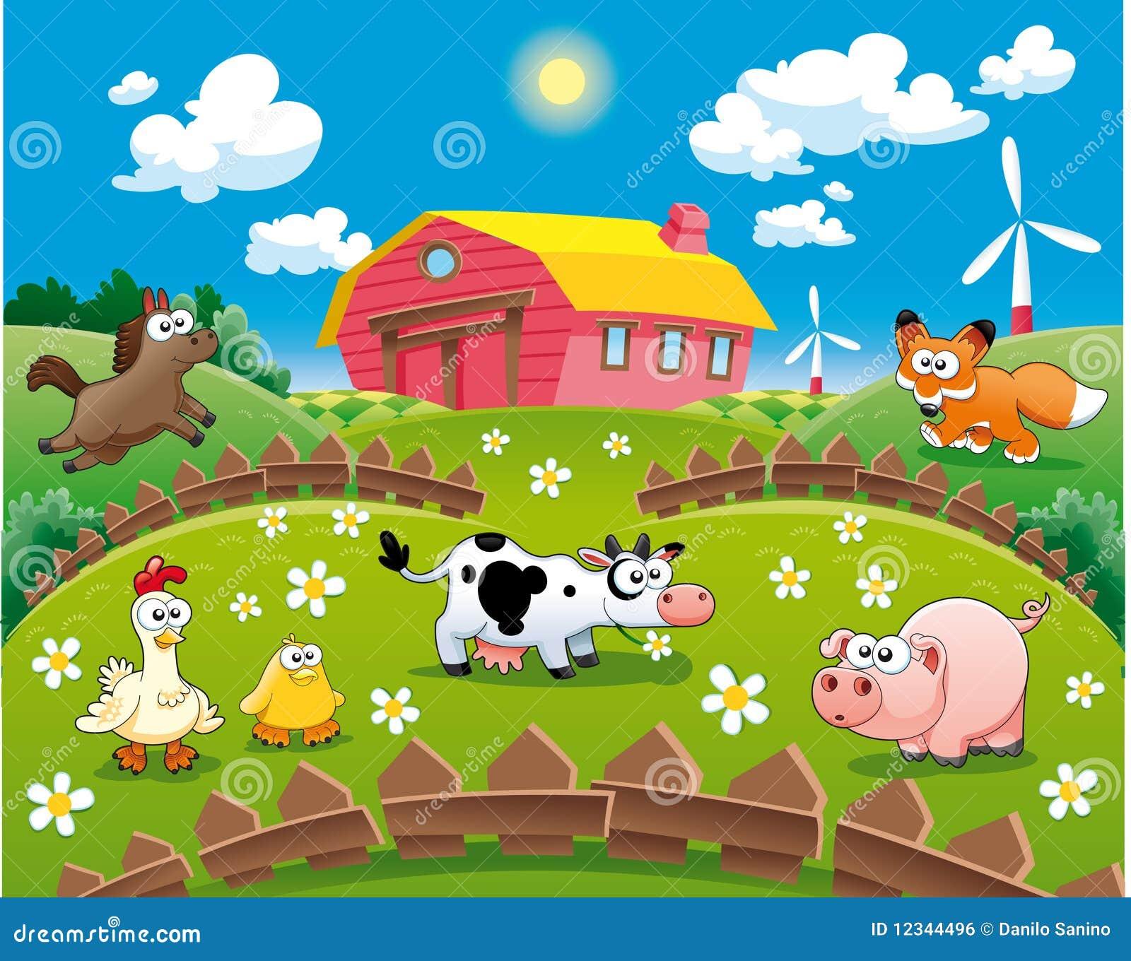 Ilustração da exploração agrícola.