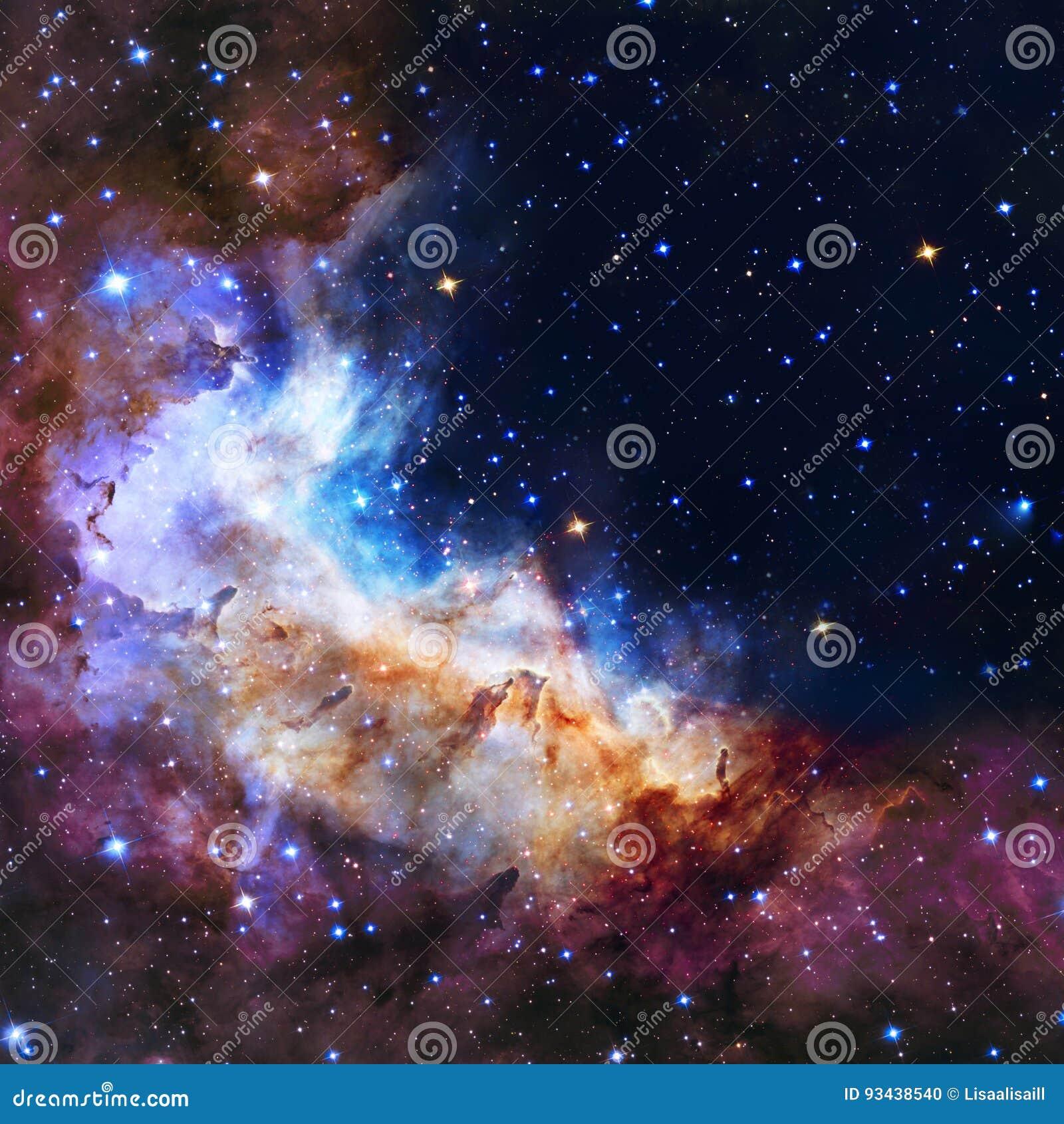 A ilustração da galáxia, fundo com estrelas, nebulosa do espaço, cosmos nubla-se