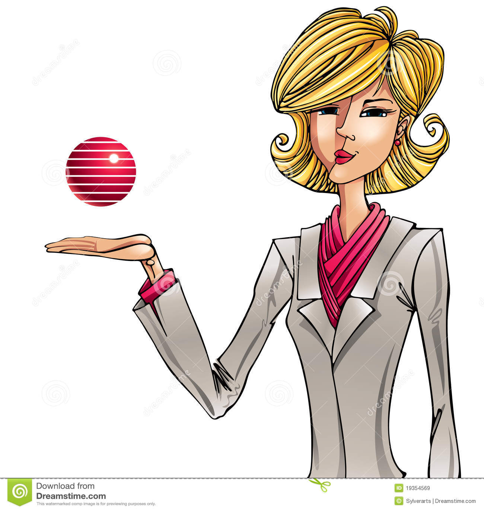 Ilustração da menina do negócio.