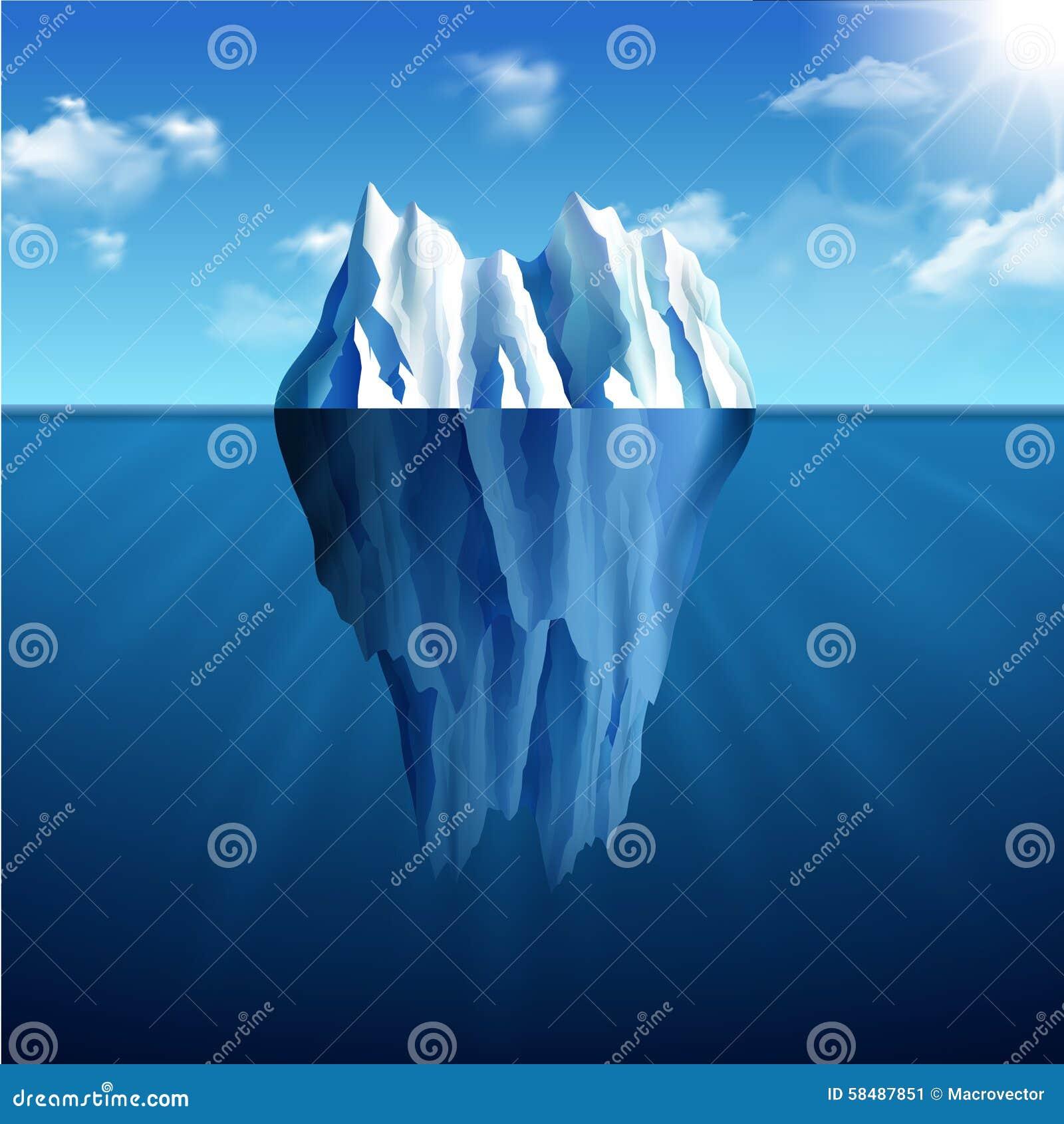 Ilustração da paisagem do iceberg