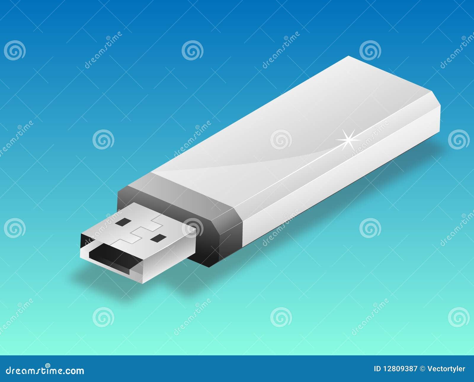 Ilustração da pena do USB