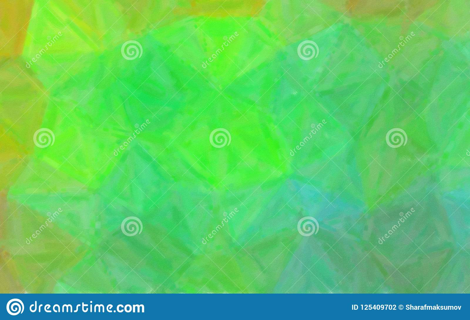 Ilustração da pintura de óleo verde e marrom com fundo seco da escova