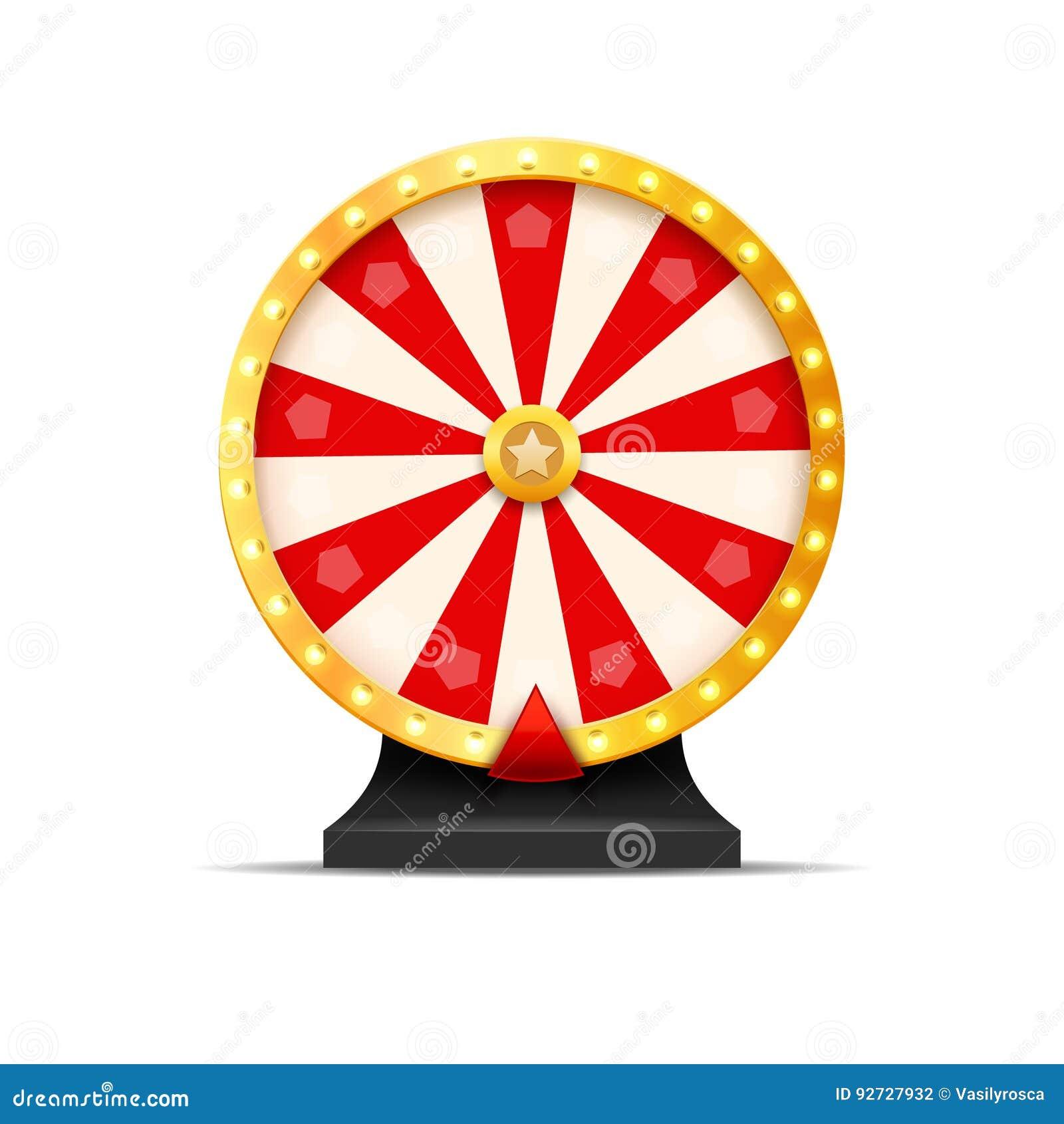 Ilustração da sorte da loteria da roda da fortuna Jogo de azar do casino Roleta da fortuna da vitória Lazer da possibilidade do j