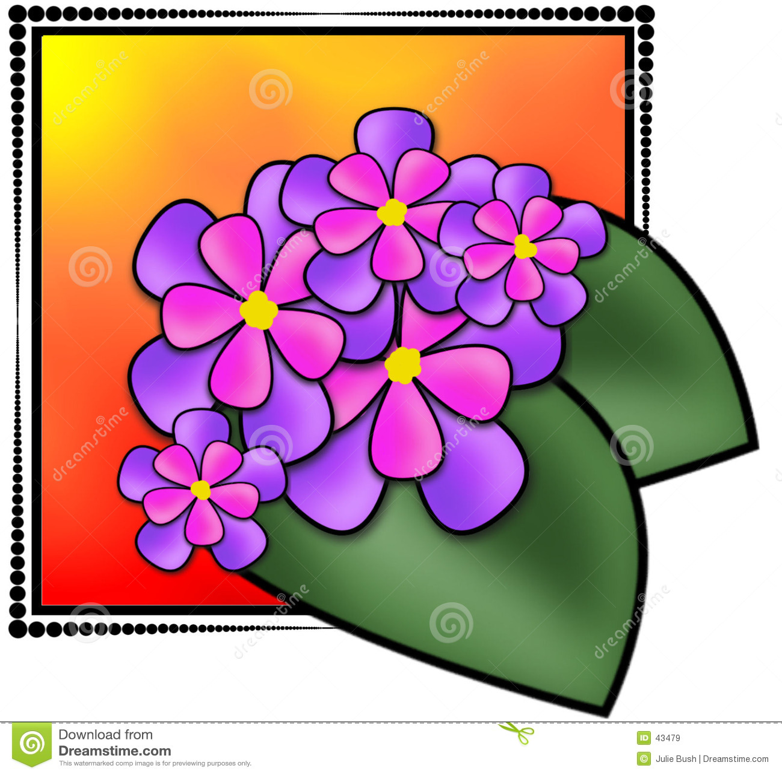 Ilustração das flores