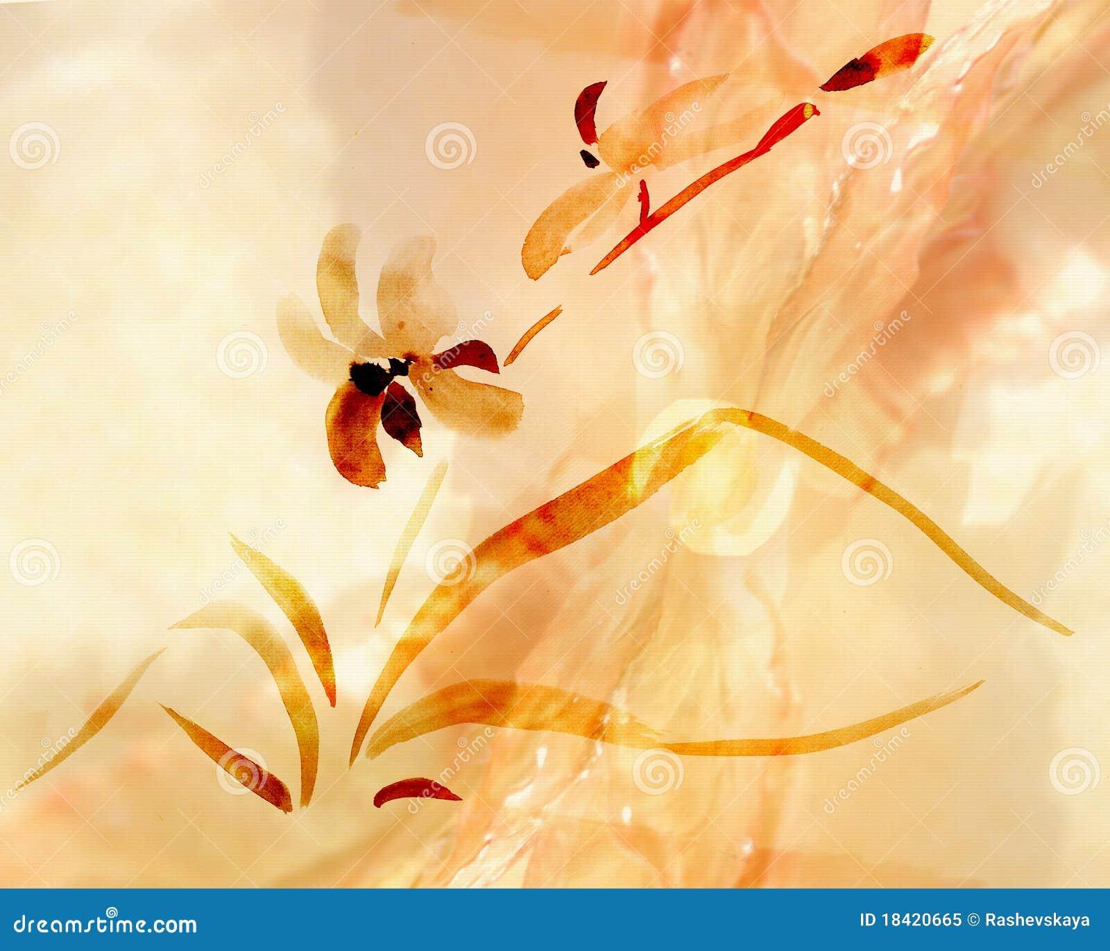 Ilustração das orquídeas