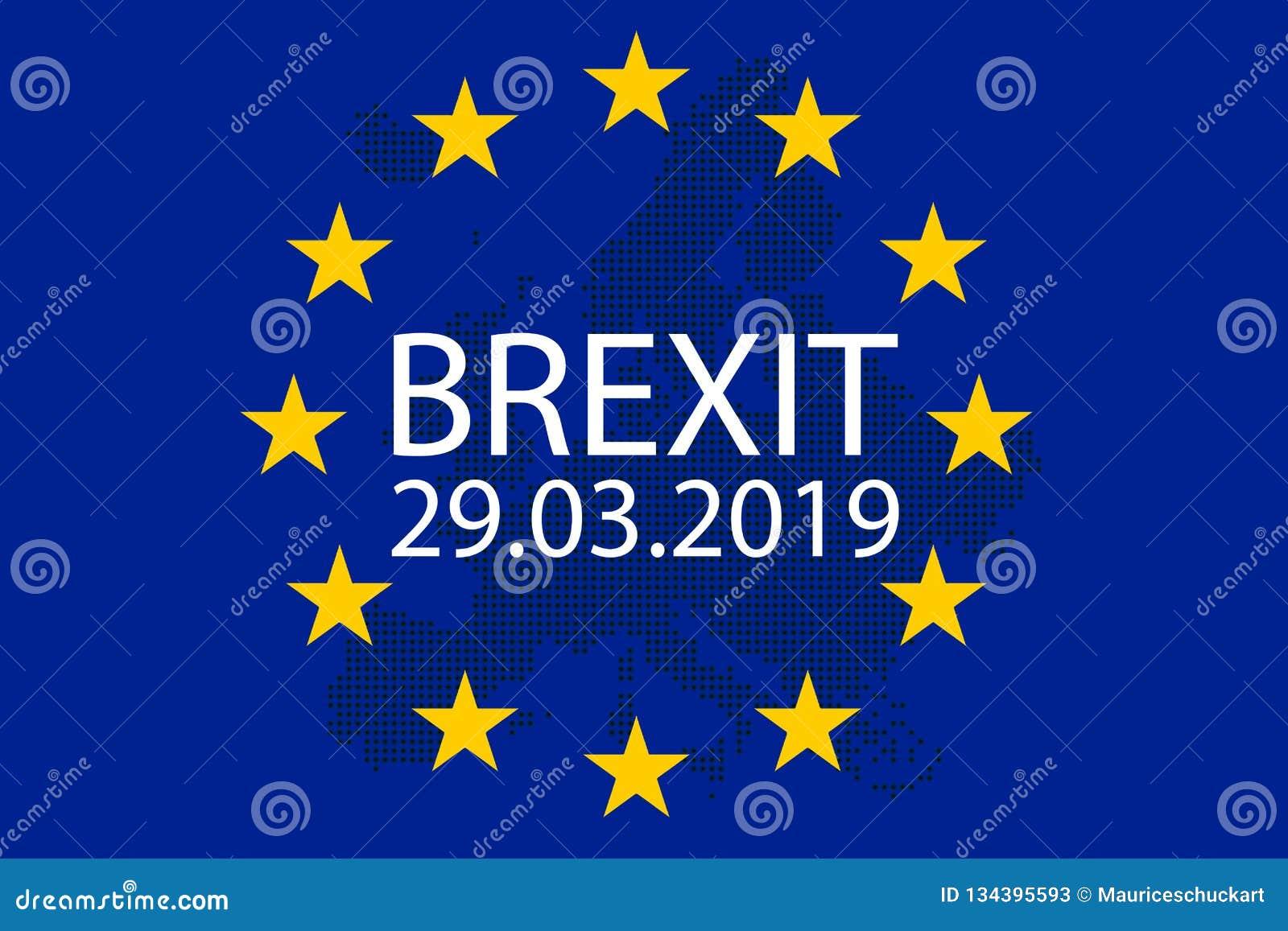 A ilustração de Brexit Grâ Bretanha sae da UE