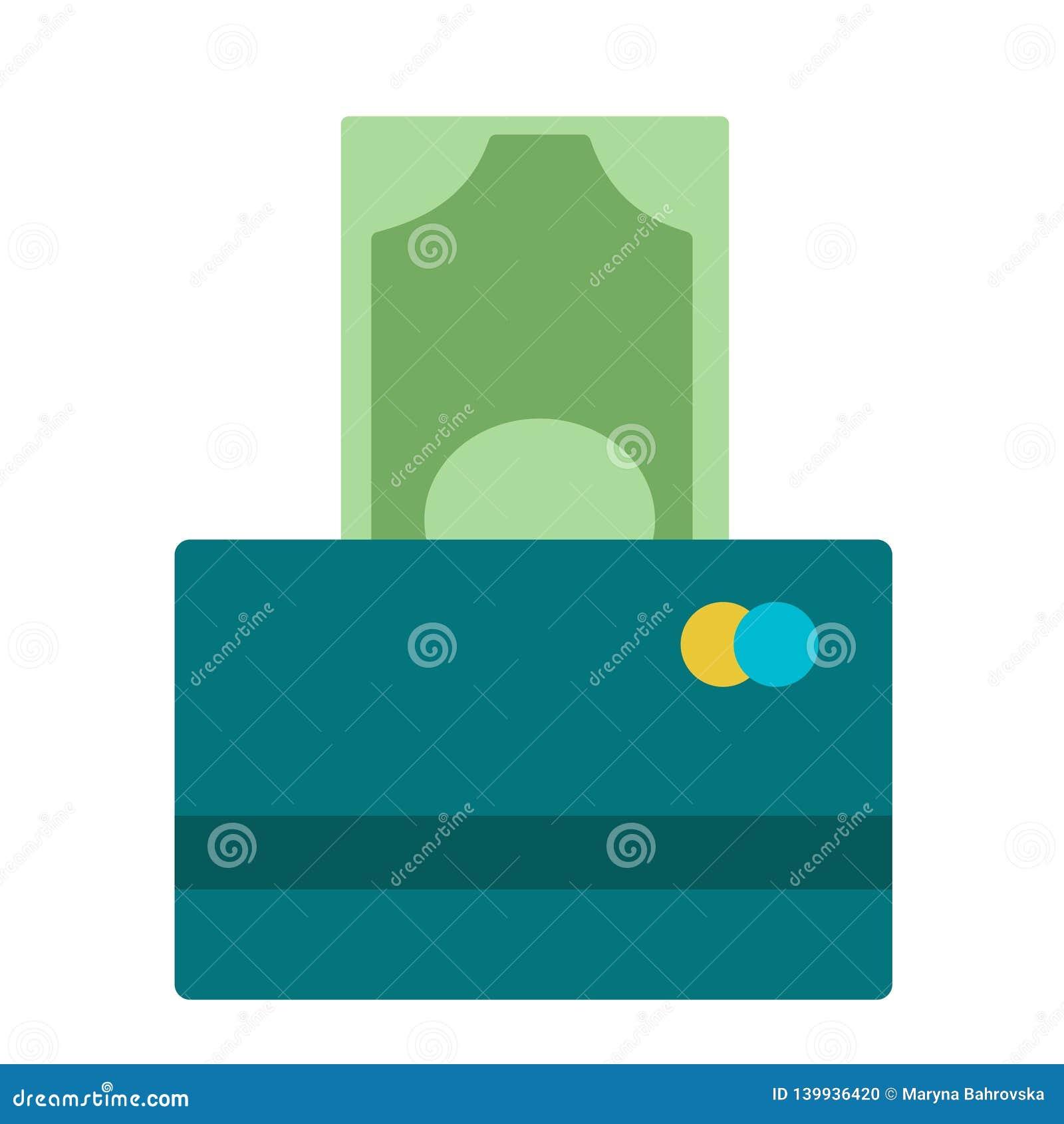 Ilustração de cem cédulas do Euro que estão sendo introduzidas no leitor da moeda em um cartão de crédito Balanço de contas do ba