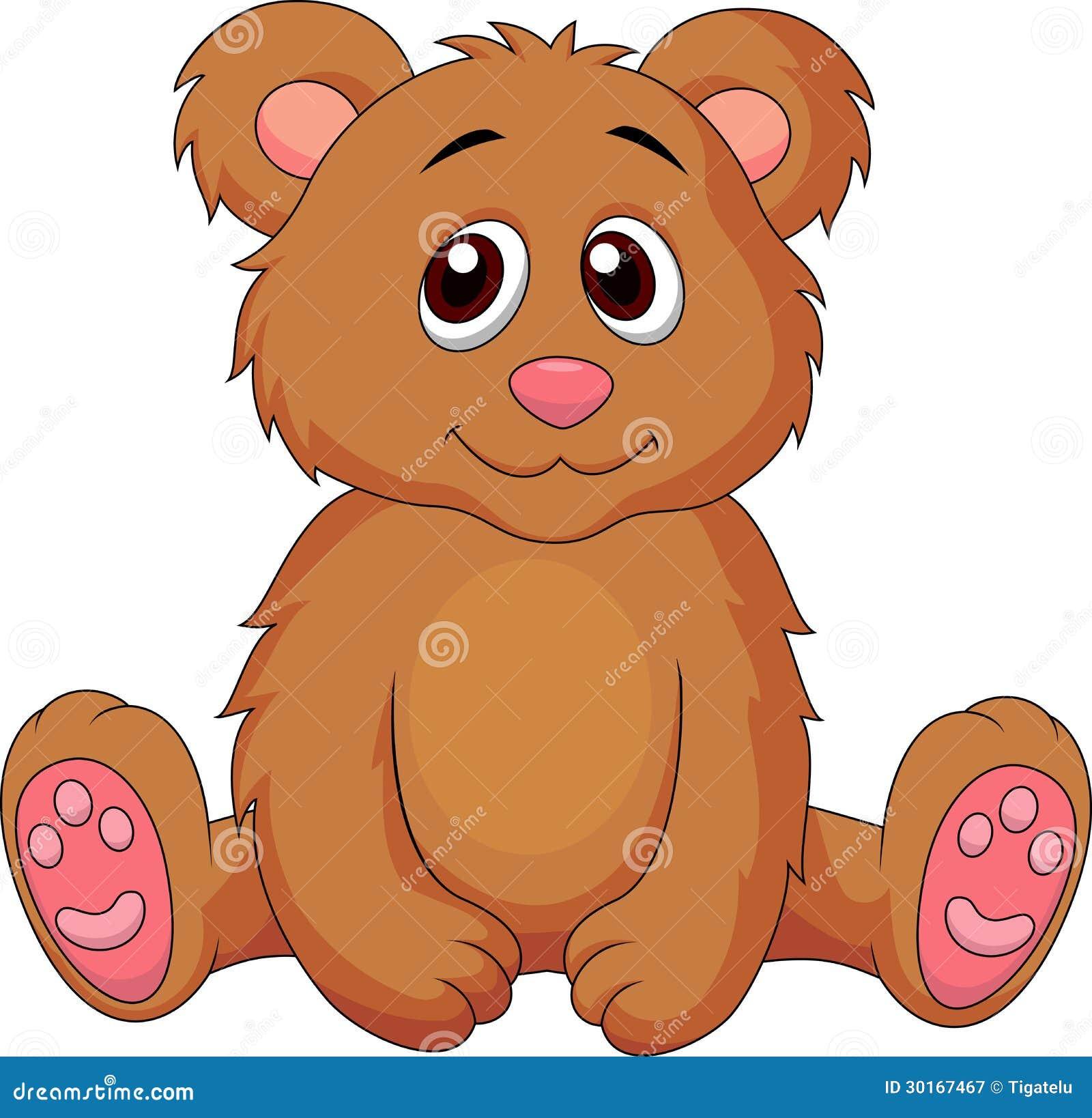 Desenhos Animados Bonitos Do Urso Do Bebe Ilustracao Do Vetor