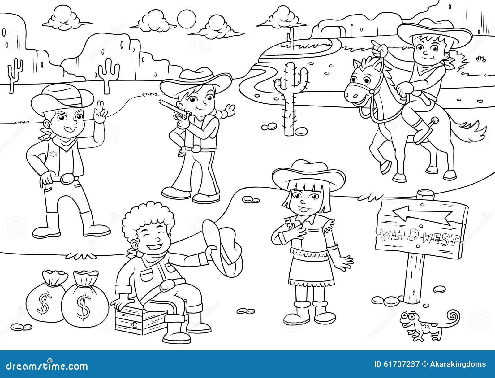 25 Desenhos Do Angry Birds Para Colorir Em Casa: Ilustração De Desenhos Animados Da Criança De Wild West Do