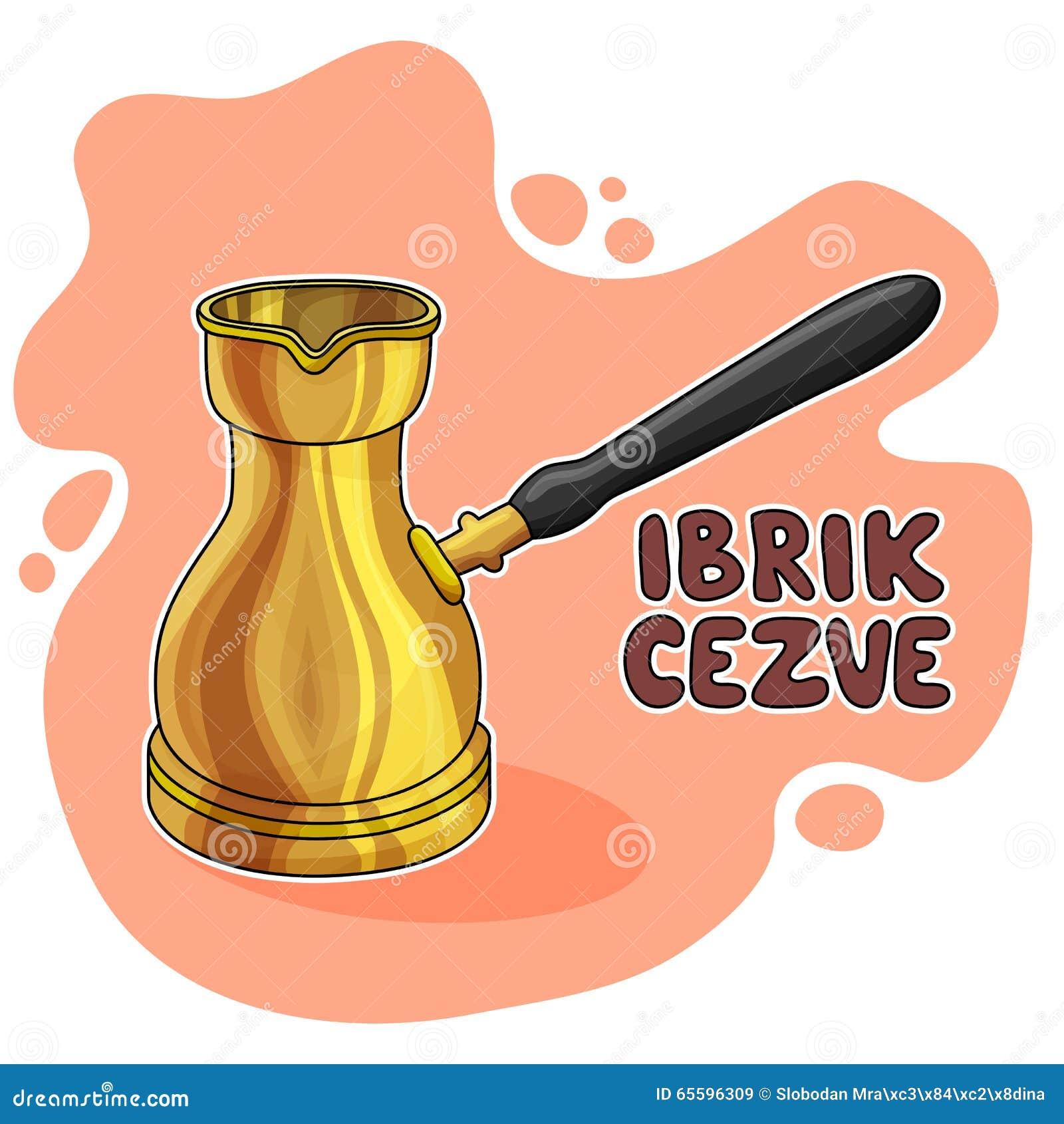 Ilustração de Ibrik Cezve