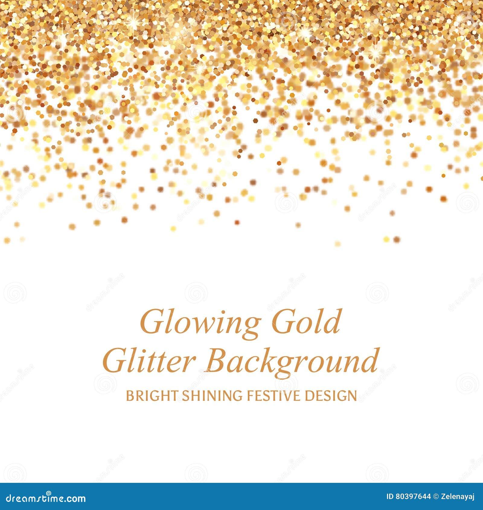 Ilustração de incandescência do vetor do brilho do ouro