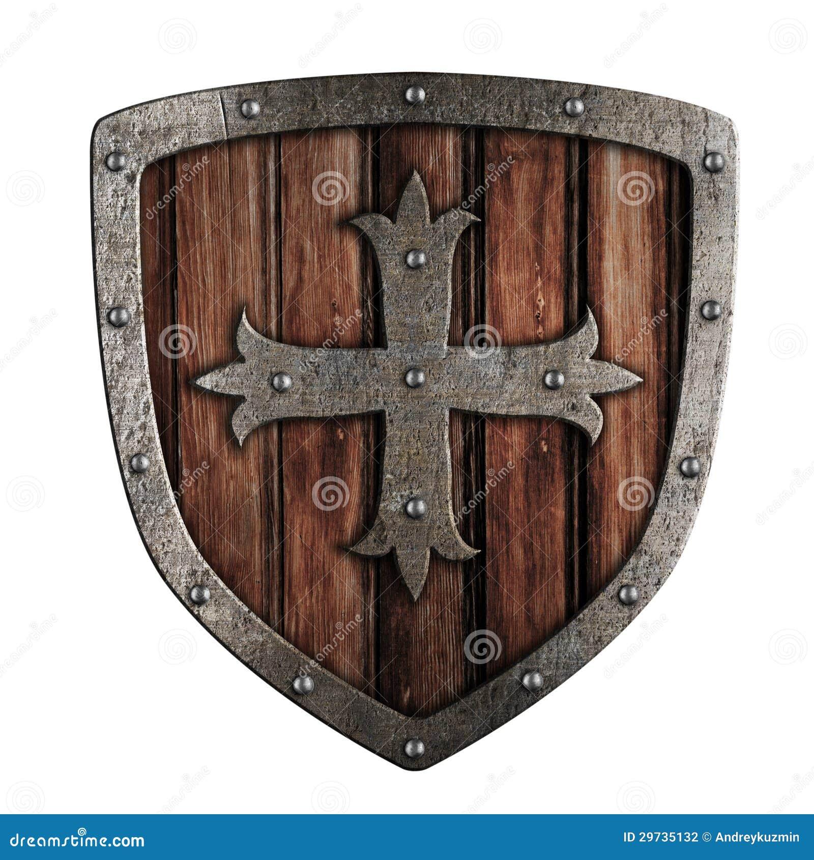 Ilustração de madeira do protetor do cruzado idoso isolada