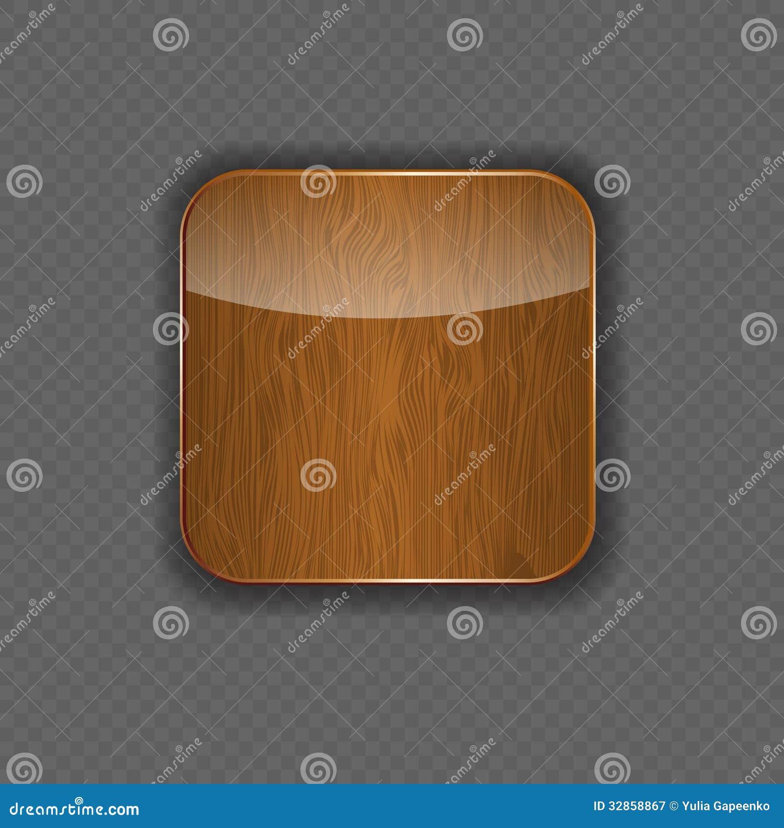 Ilustração de madeira do vetor do ícone da aplicação