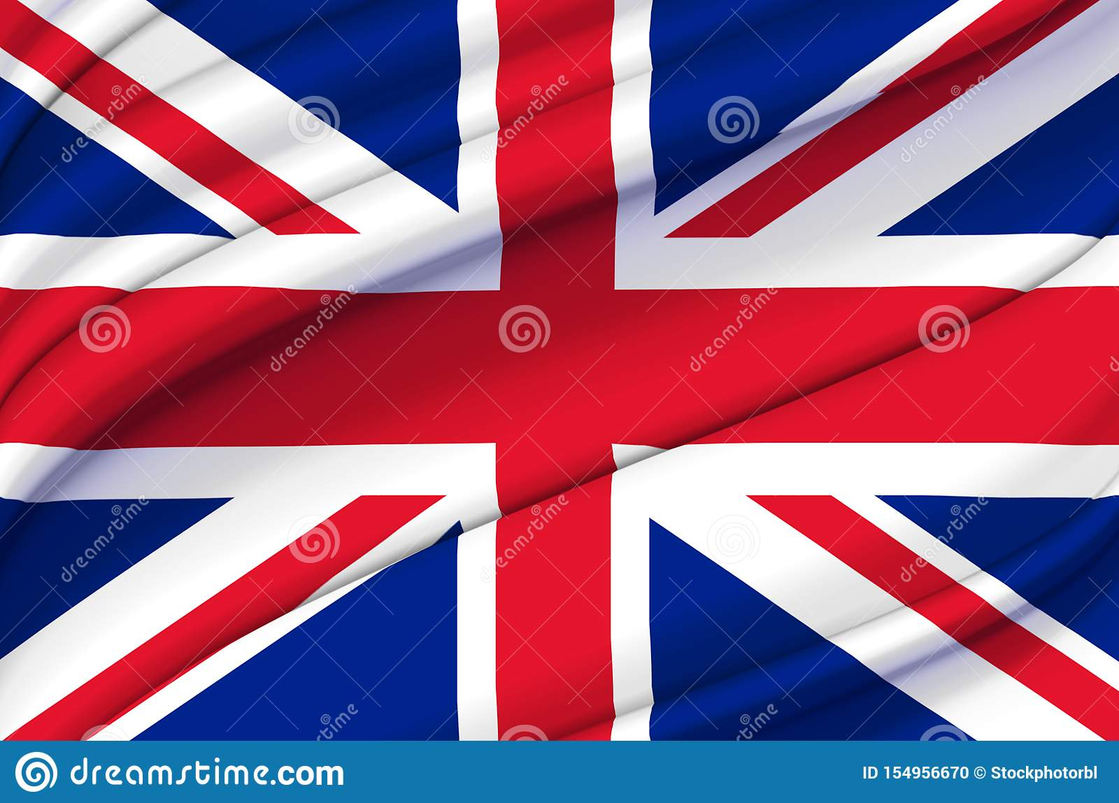 Ilustração de ondulação da bandeira de Reino Unido