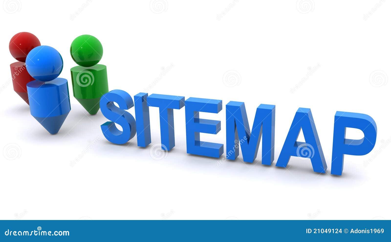 Ilustração de Sitemap