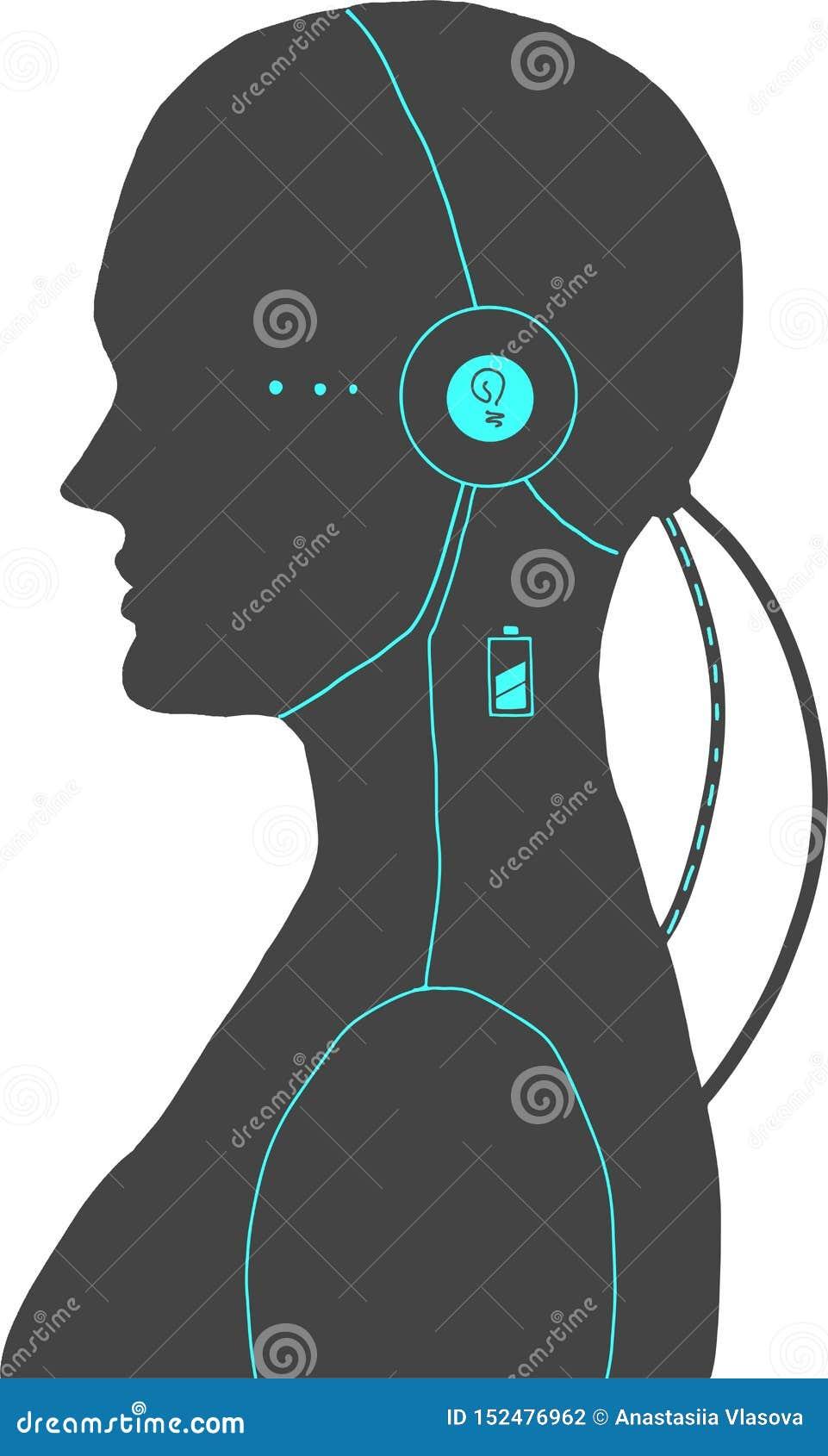 Ilustração de um androide
