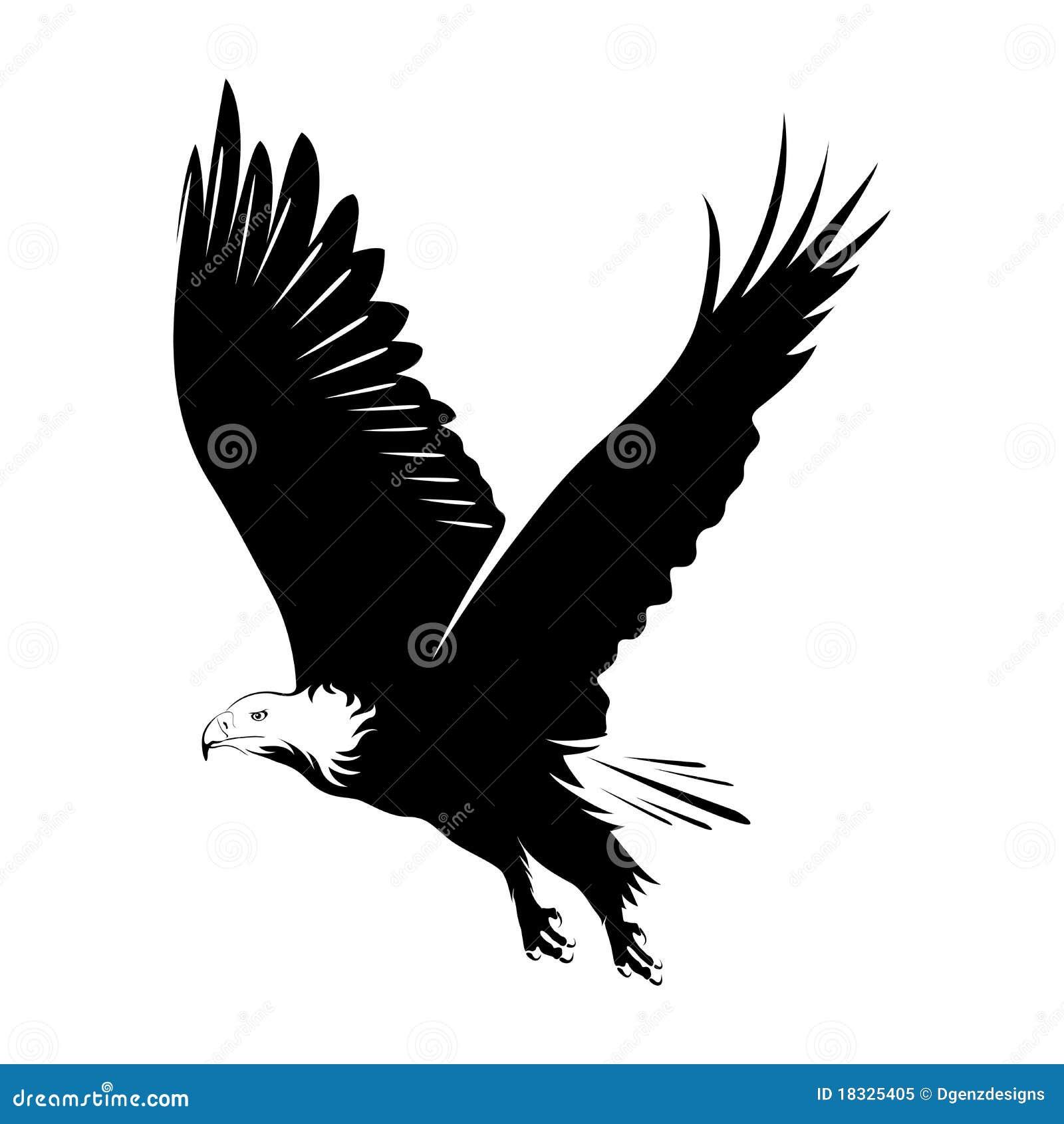 Ilustração de um vôo da águia