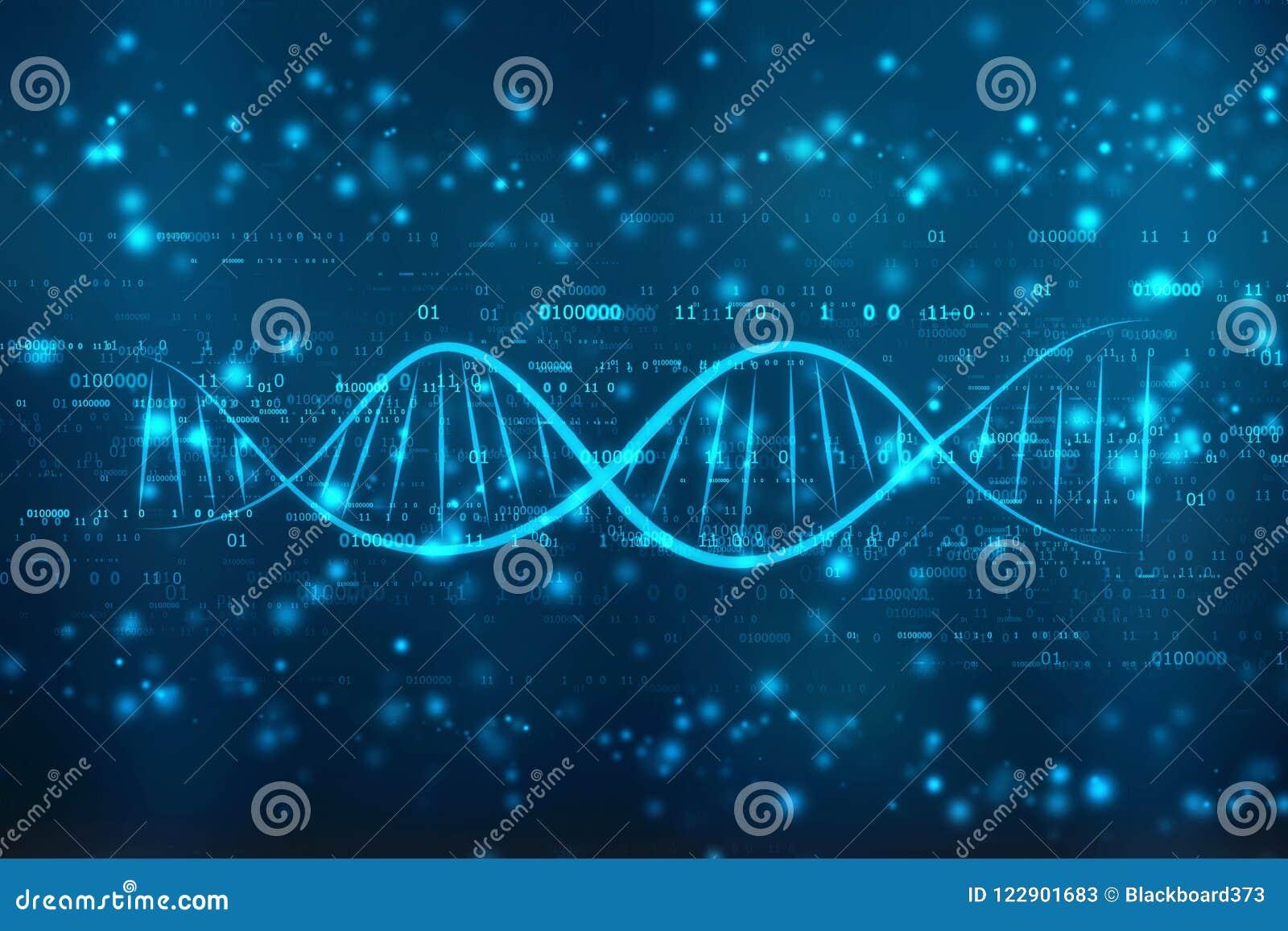 Ilustração digital do ADN no fundo abstrato médico