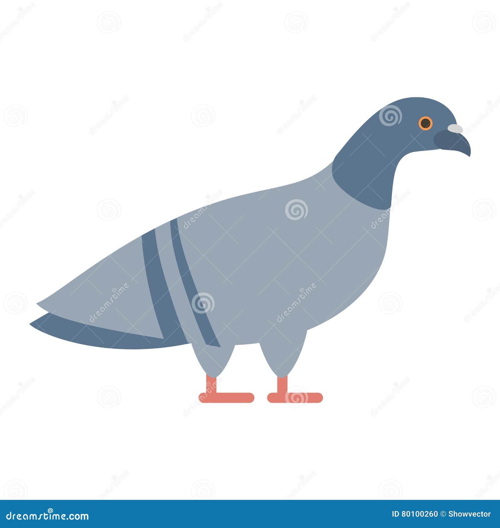 Ilustração do ícone do vetor da pomba