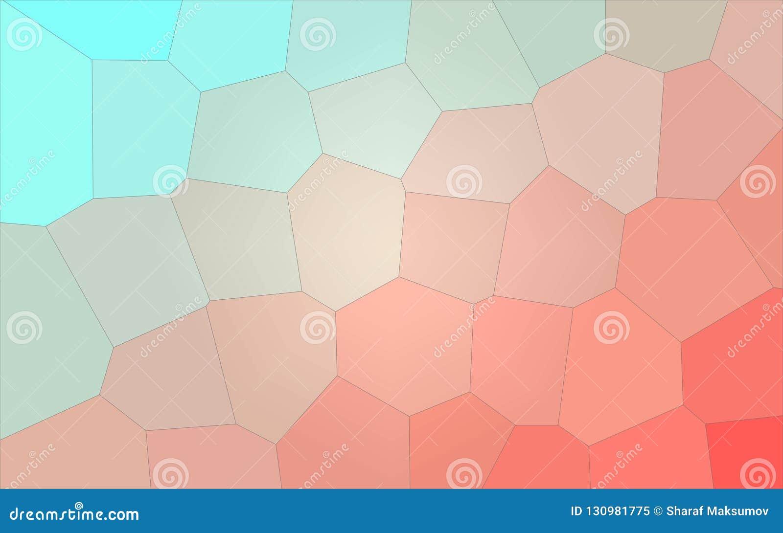 Ilustração do aqua e do fundo gigante pastel vermelho do hexágono
