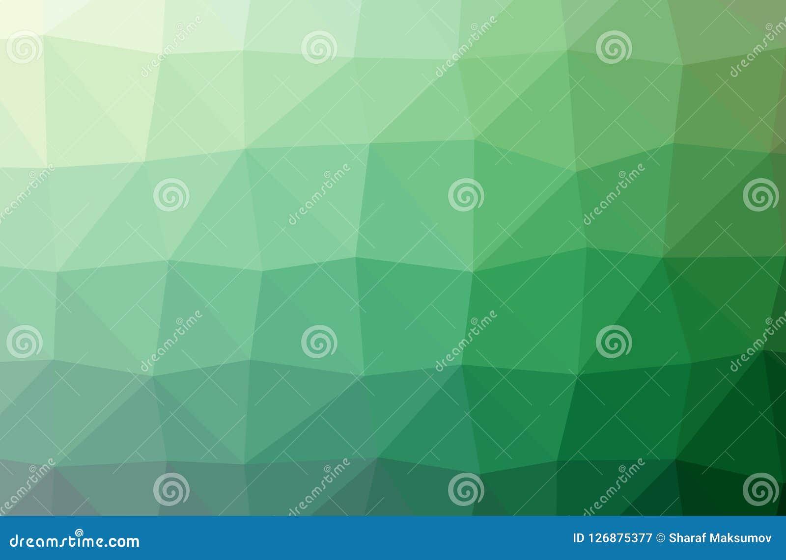 Ilustração do baixo fundo multicolorido agradável poli abstrato verde