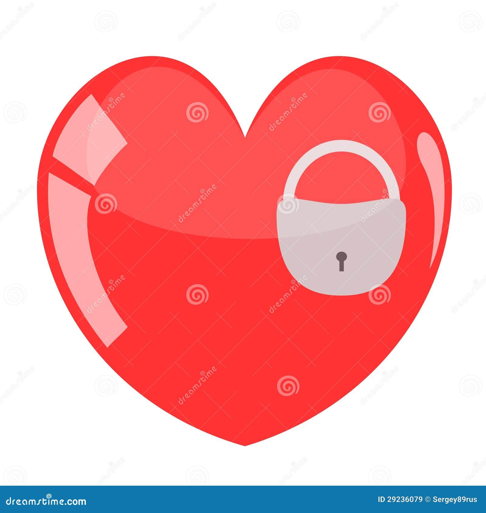 Download Ilustração Do Cadeado No Coração. Ilustração do Vetor - Ilustração de reflexão, amor: 29236079