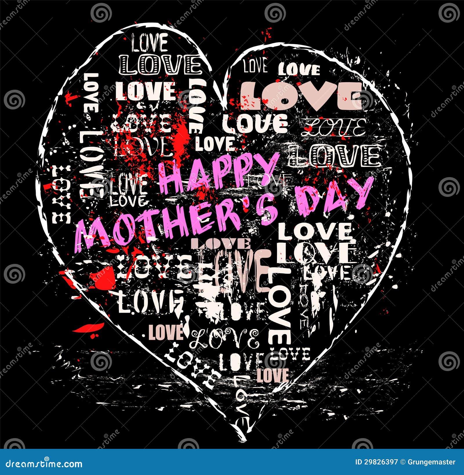 Ilustração do dia de mãe,