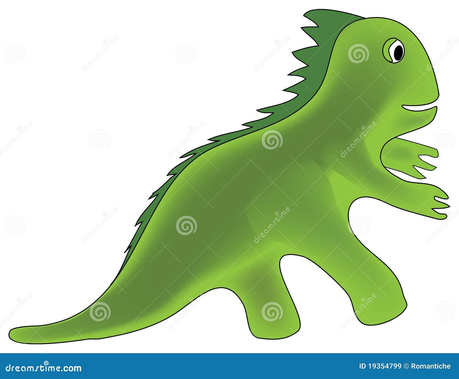 Ilustração do dinossauro