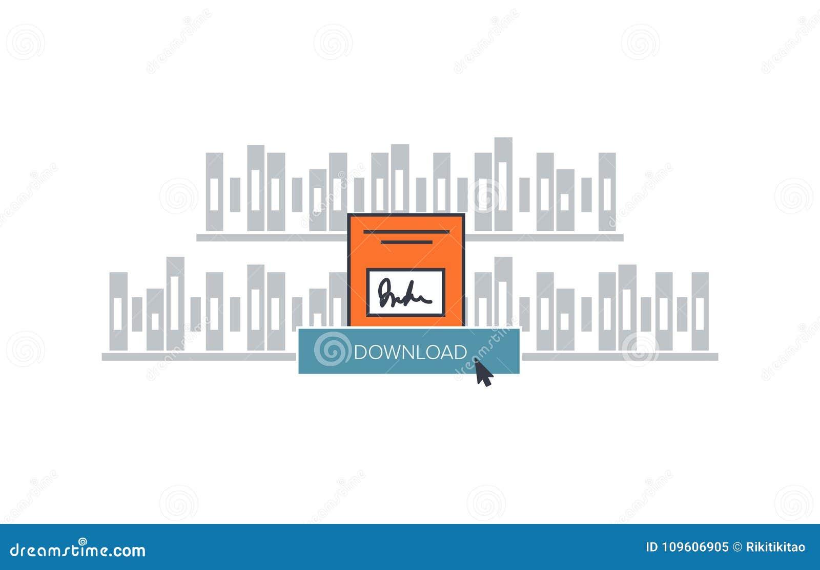Ilustração do eBook da transferência
