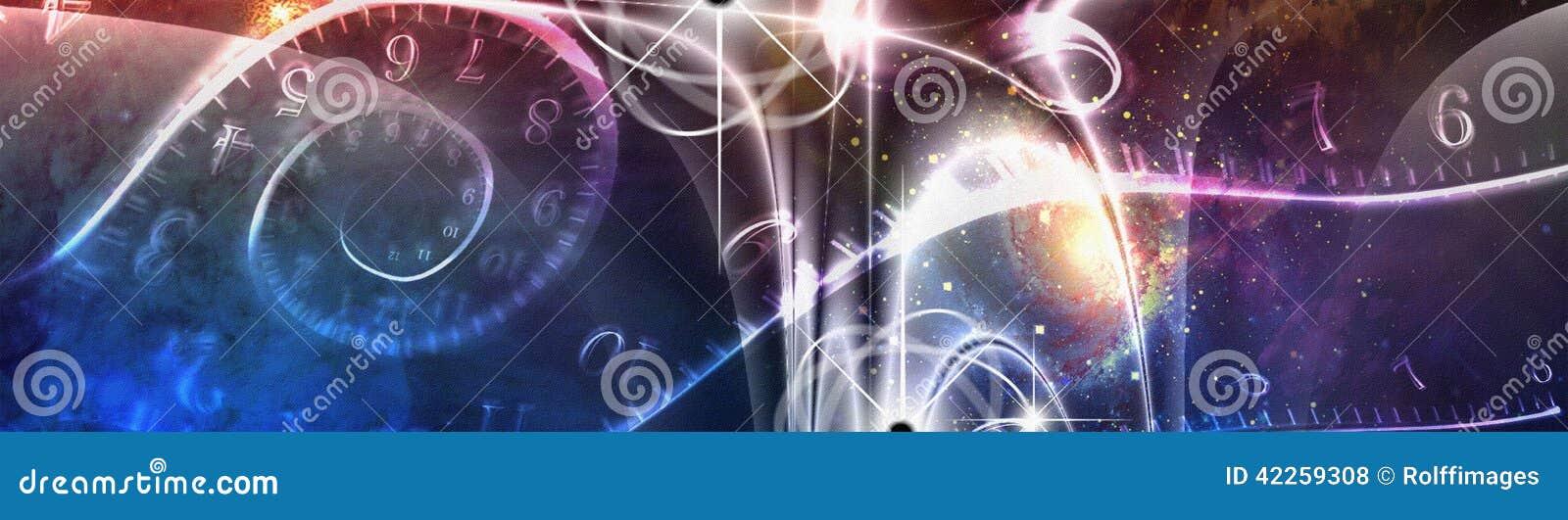 Ilustração do espaço tempo