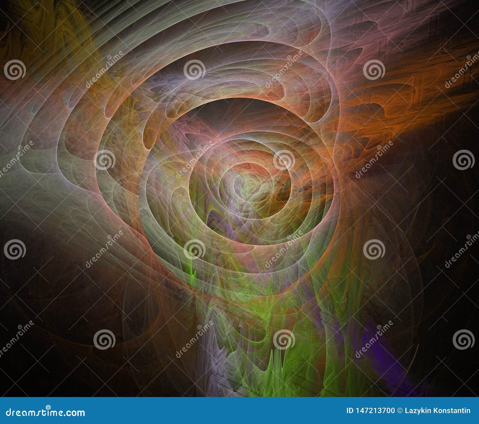 Ilustração do Fractal multicolorido