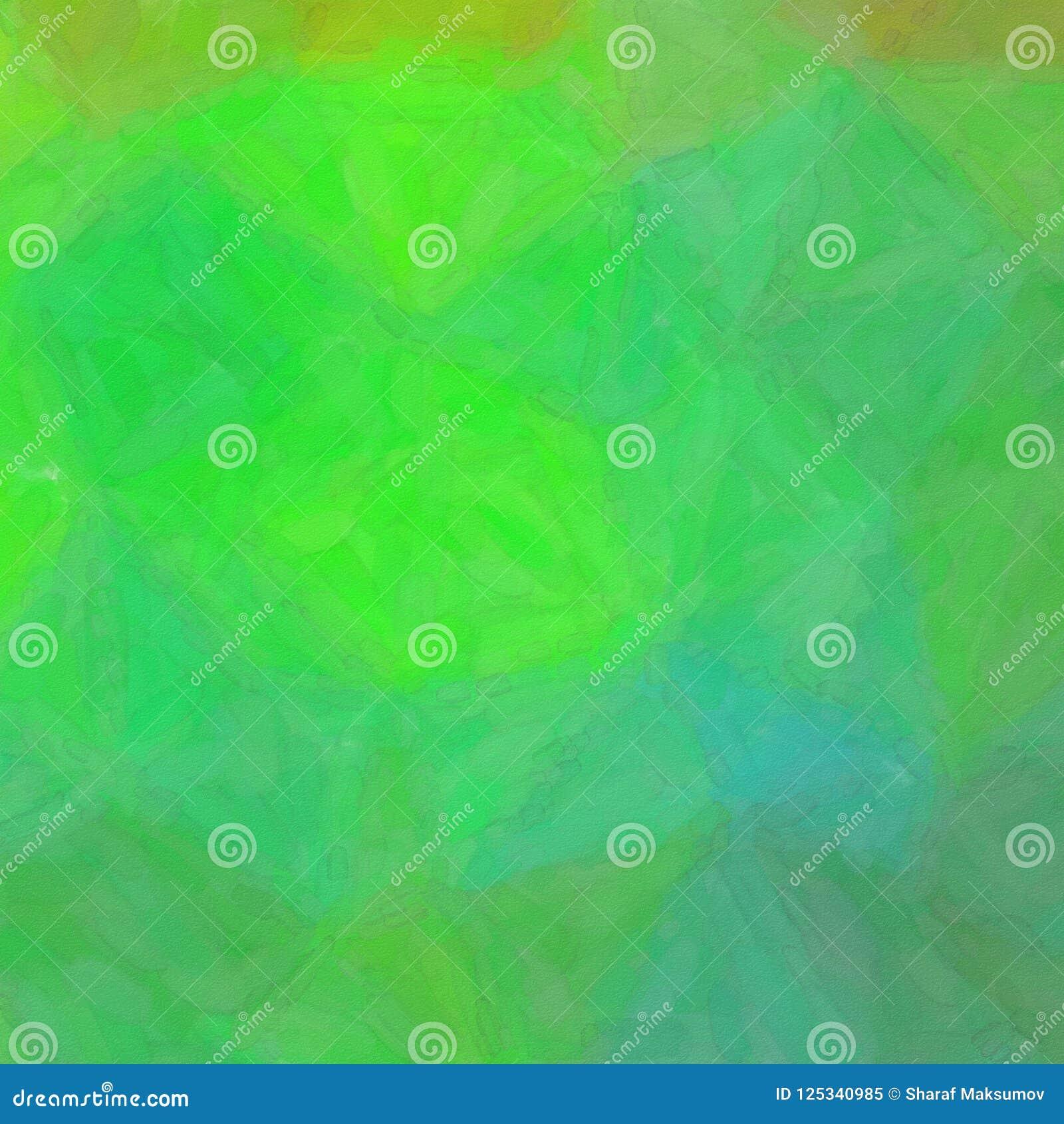 Ilustração do fundo abstrato verde e marrom quadrado da aquarela