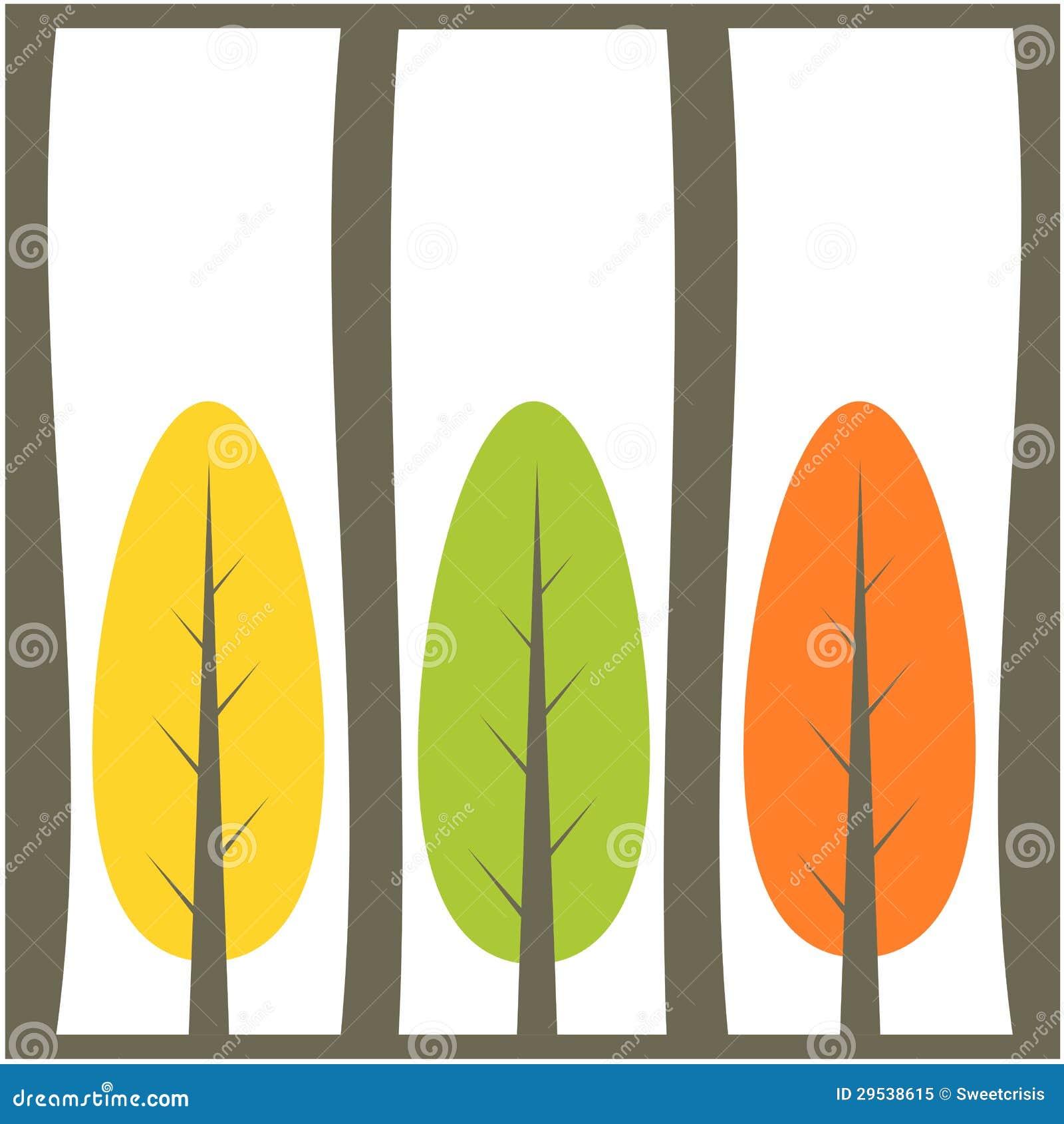 Ilustração do fundo da árvore