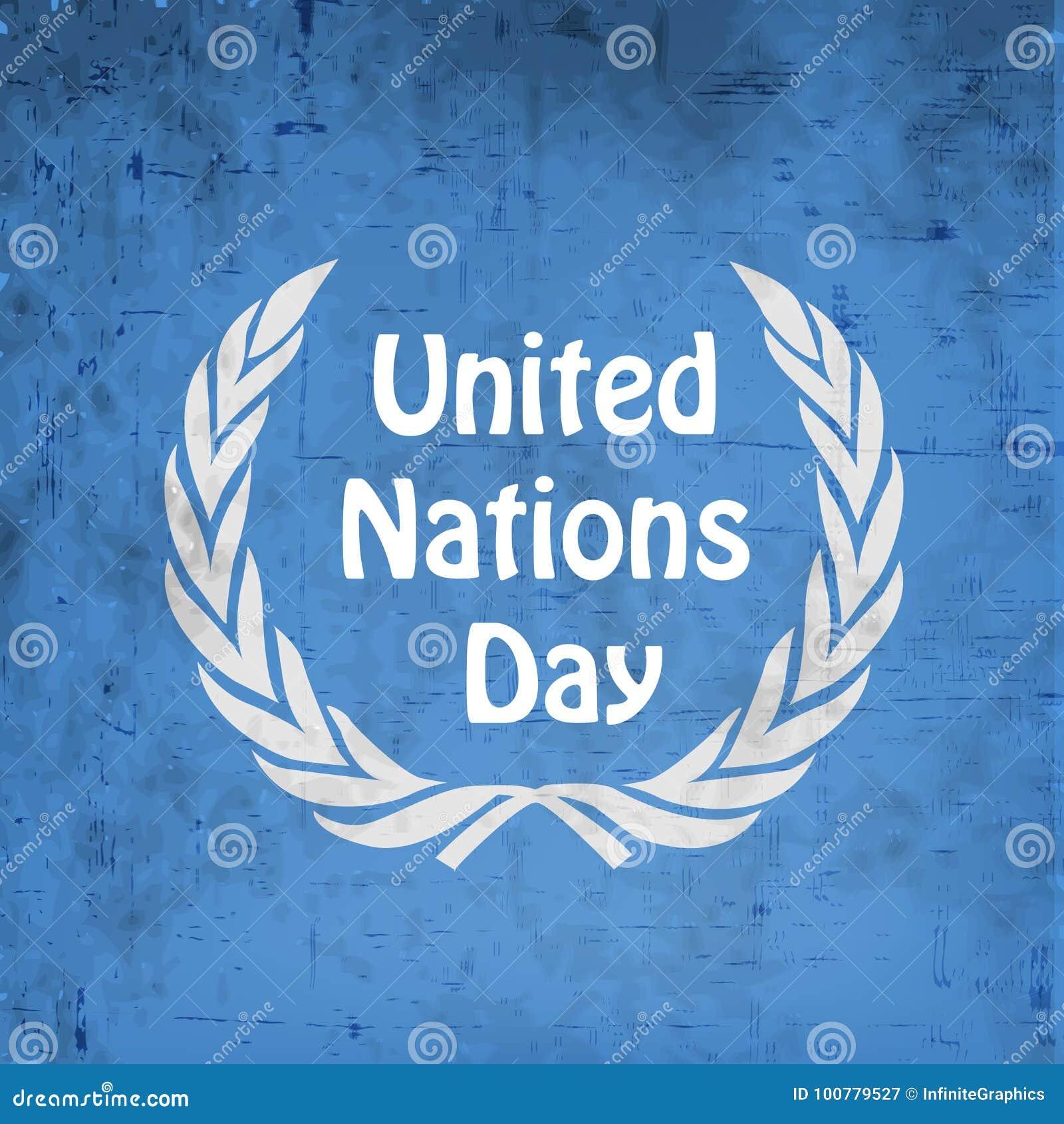Ilustração do fundo do dia de United Nations
