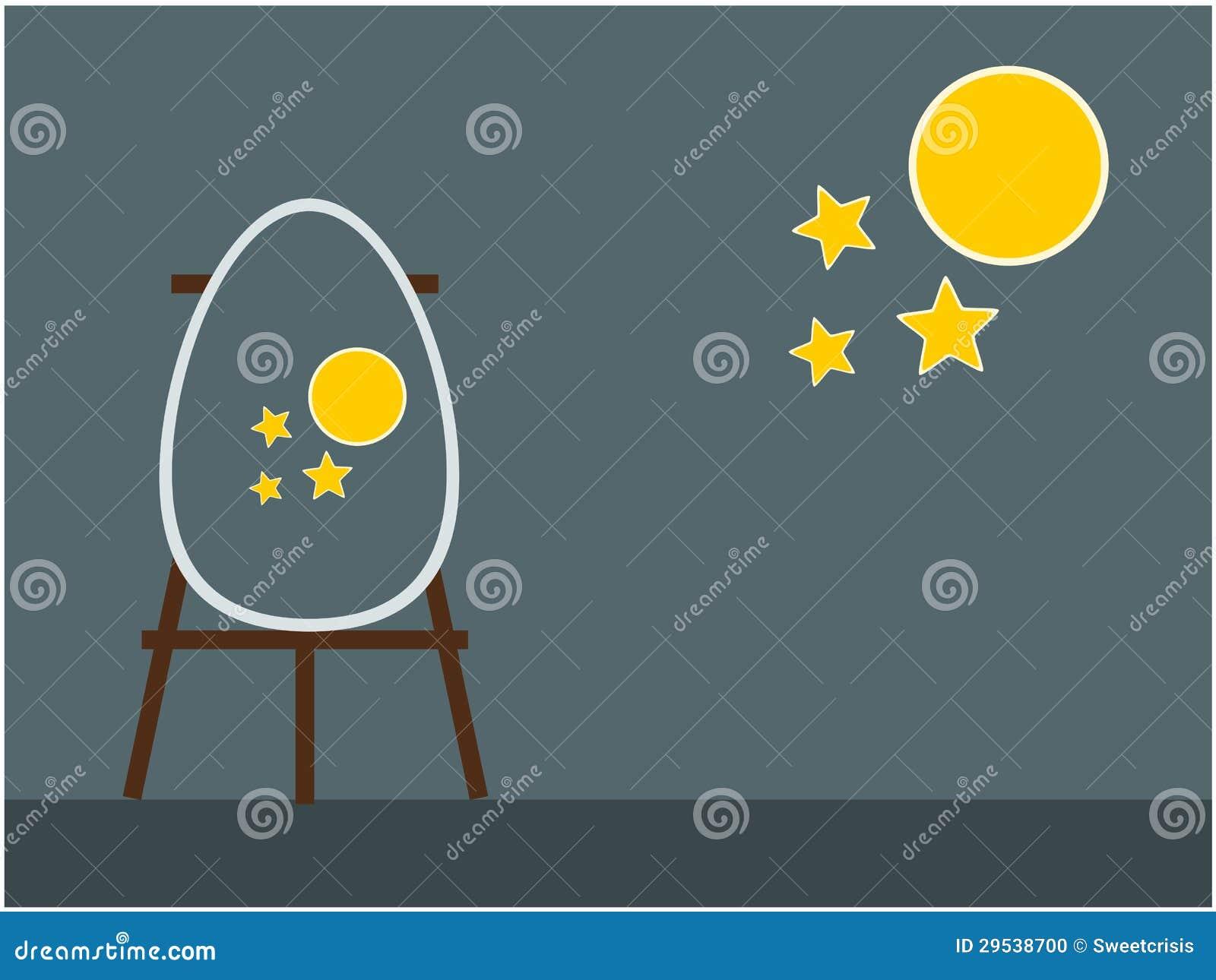 Ilustração do fundo do ovo da páscoa