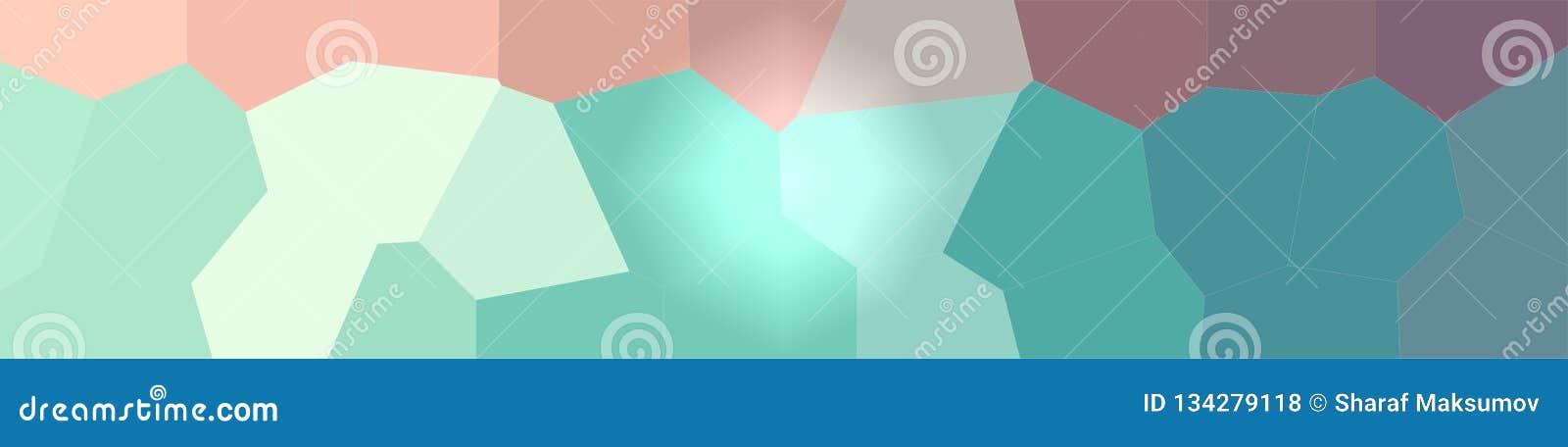 Ilustração do fundo gigante verde e marrom do hexágono, bandeira abstrata