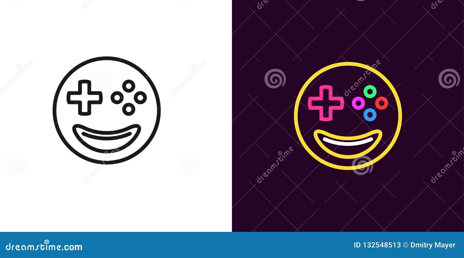 Ilustração do gamer de Emoji Jogador do emoji do vetor