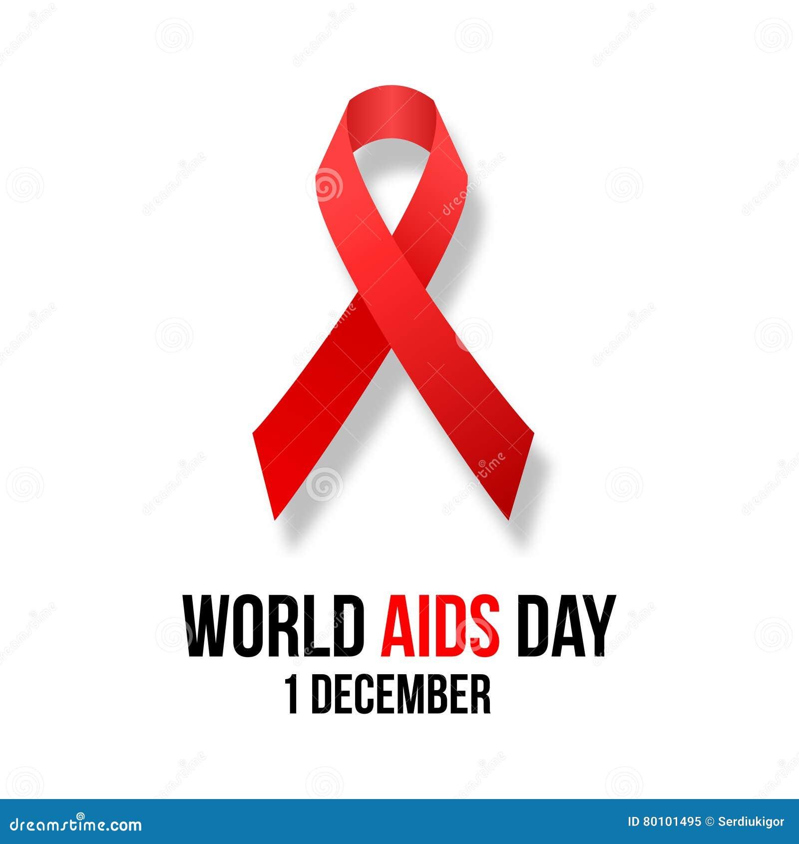 Ilustração do hiv, conscientização do vetor dos auxílios