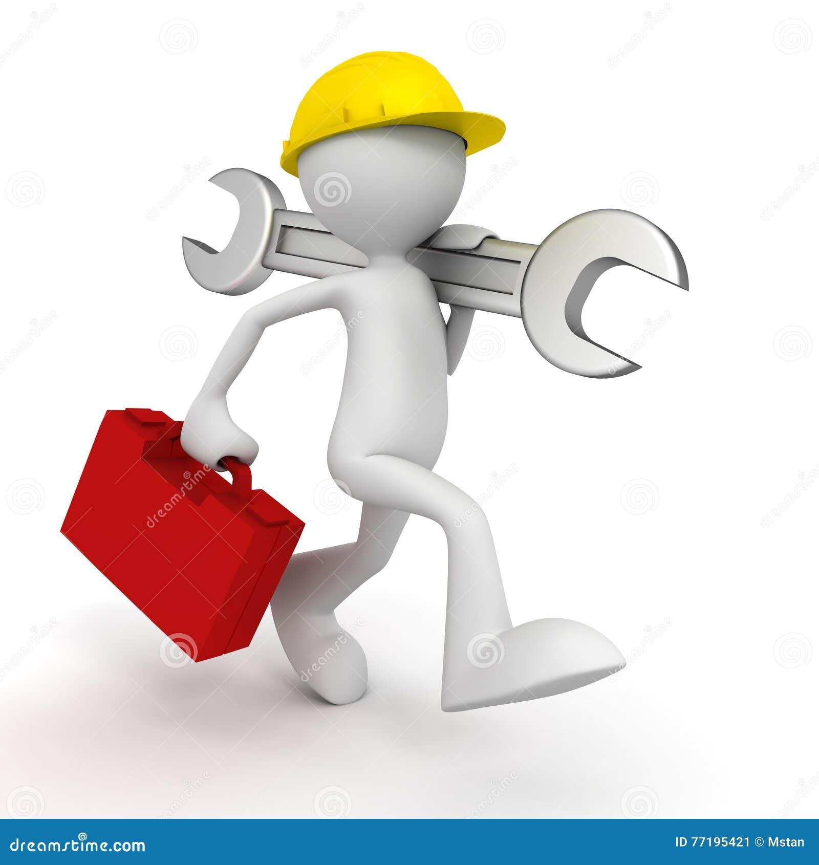 Ilustra o do homem 3d do servi o de repara es ilustra o - El fontanero en casa ...