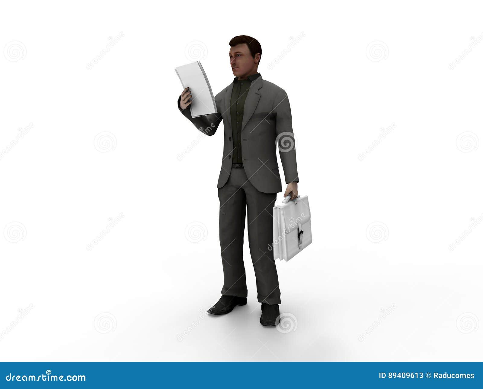 Ilustração do homem de negócios