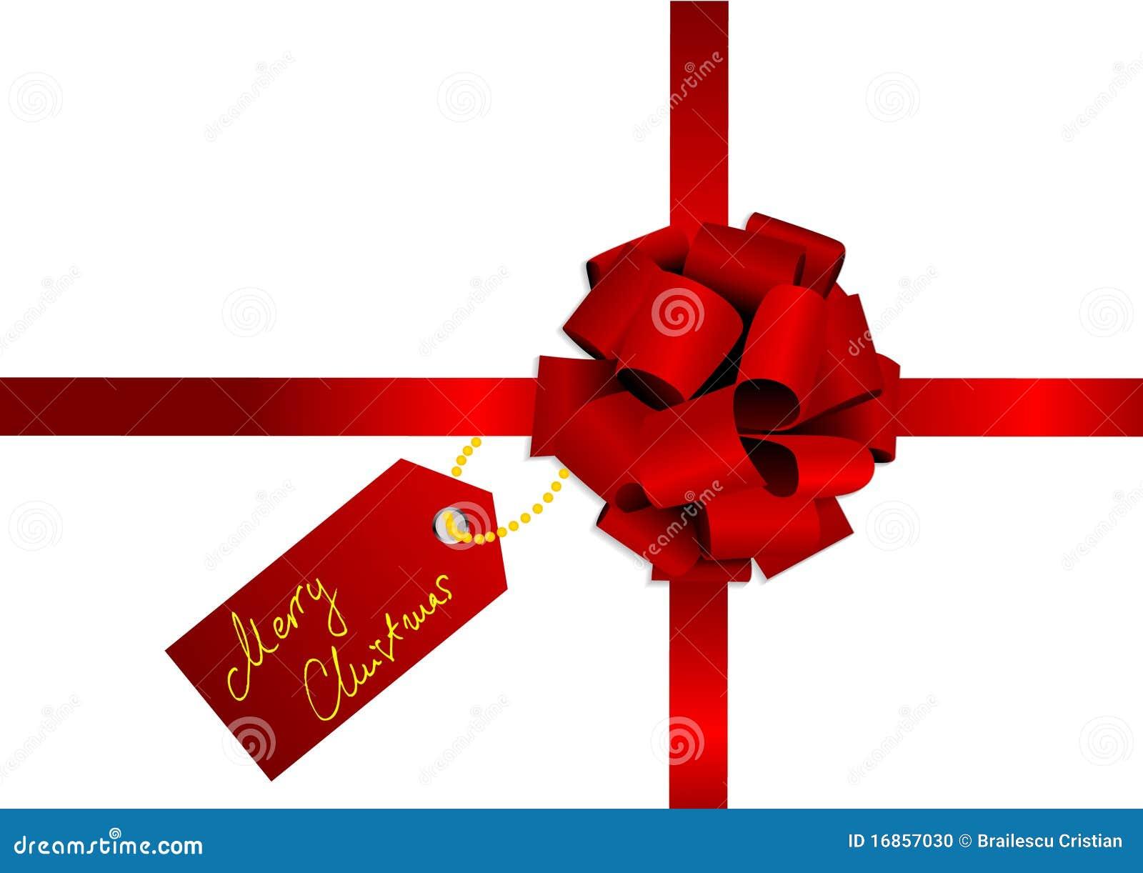 Ilustração do Natal de uma fita vermelha