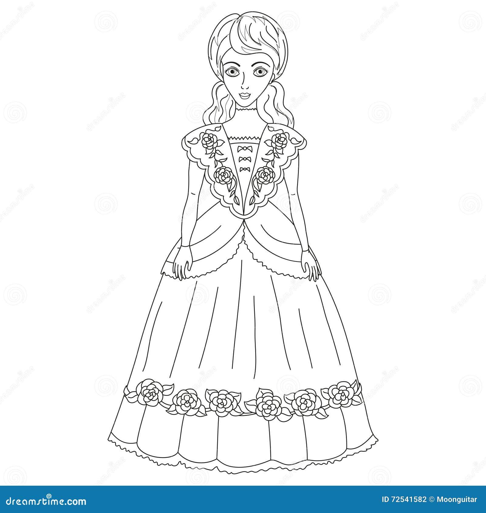 Ilustracao Do Nobre No Vestido Antigo Pagina Do Livro Para