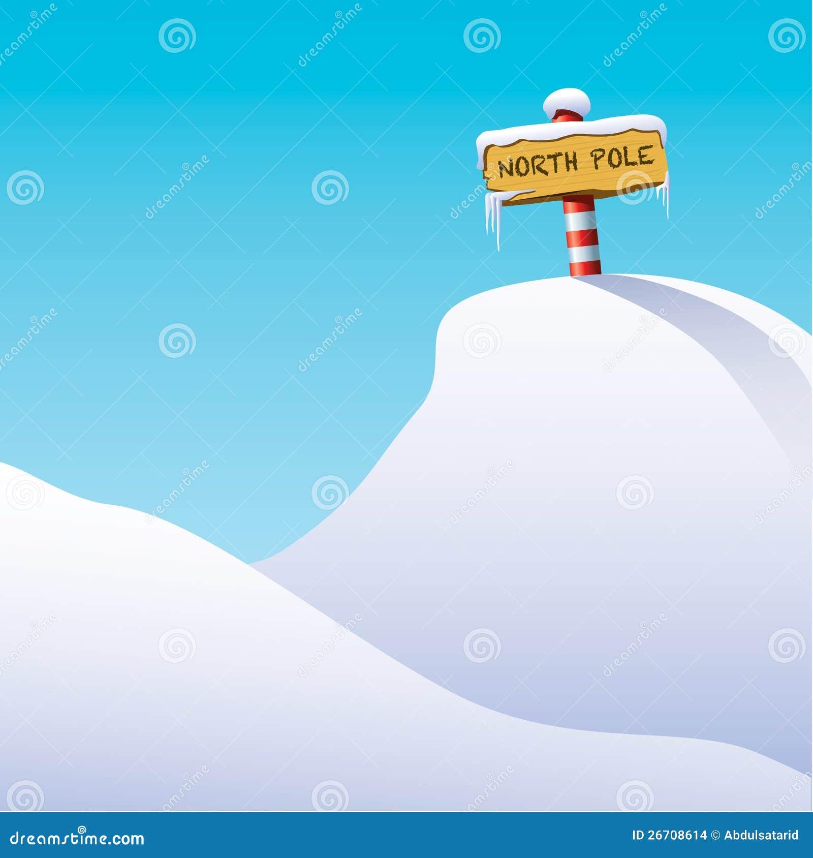 Ilustração do Pólo Norte