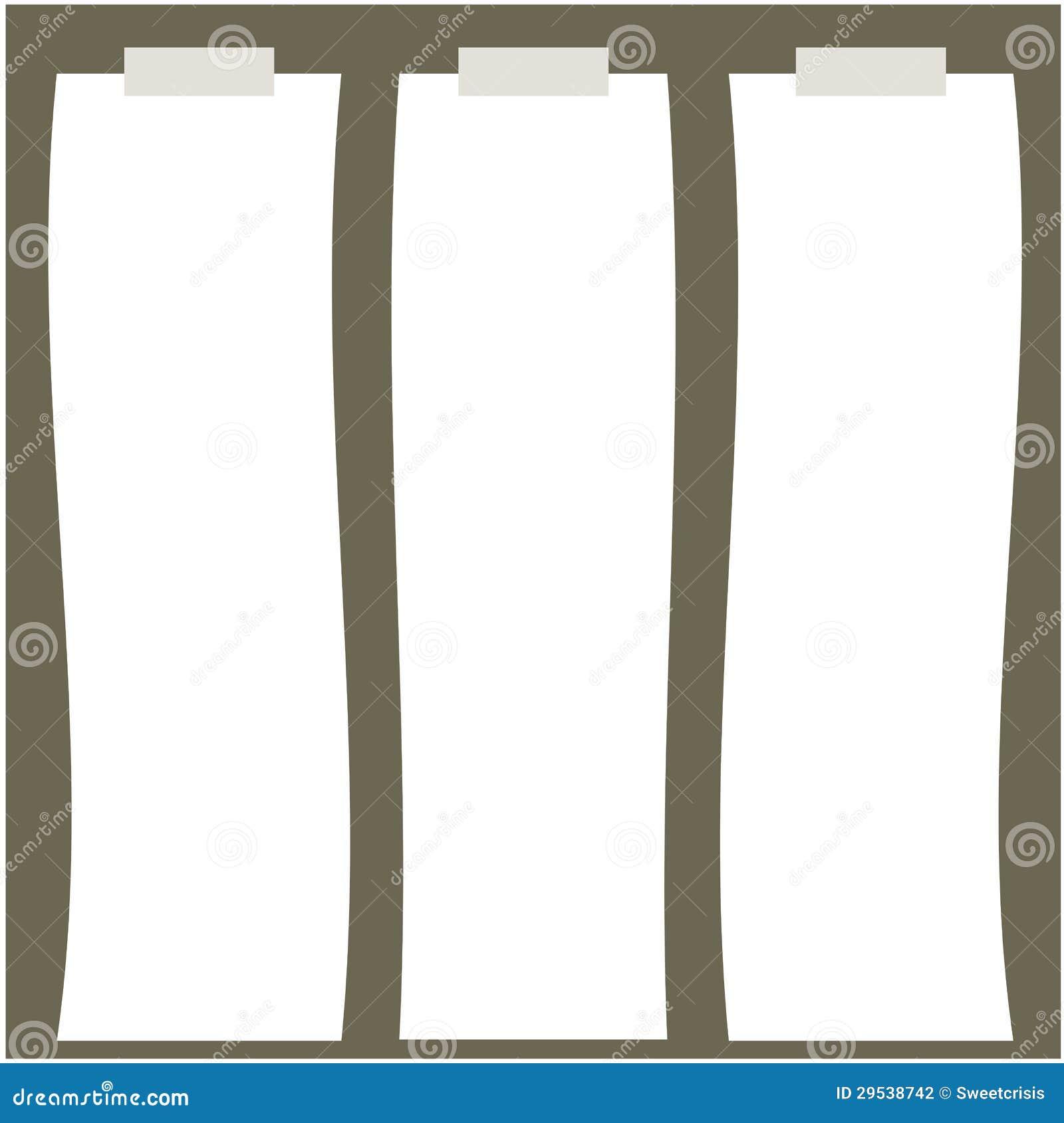 Ilustração do papel longo