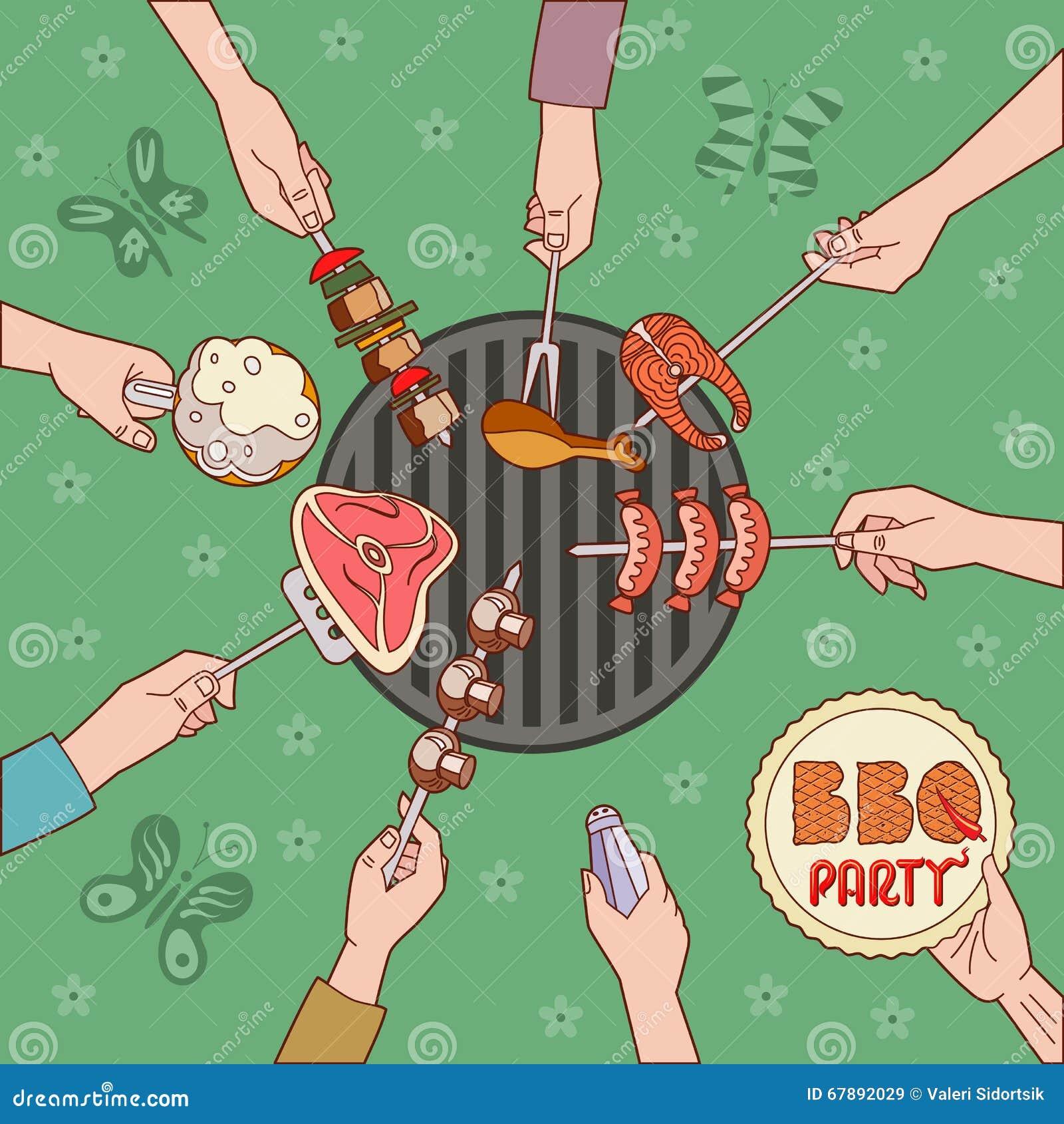 Ilustração do PARTIDO do BBQ